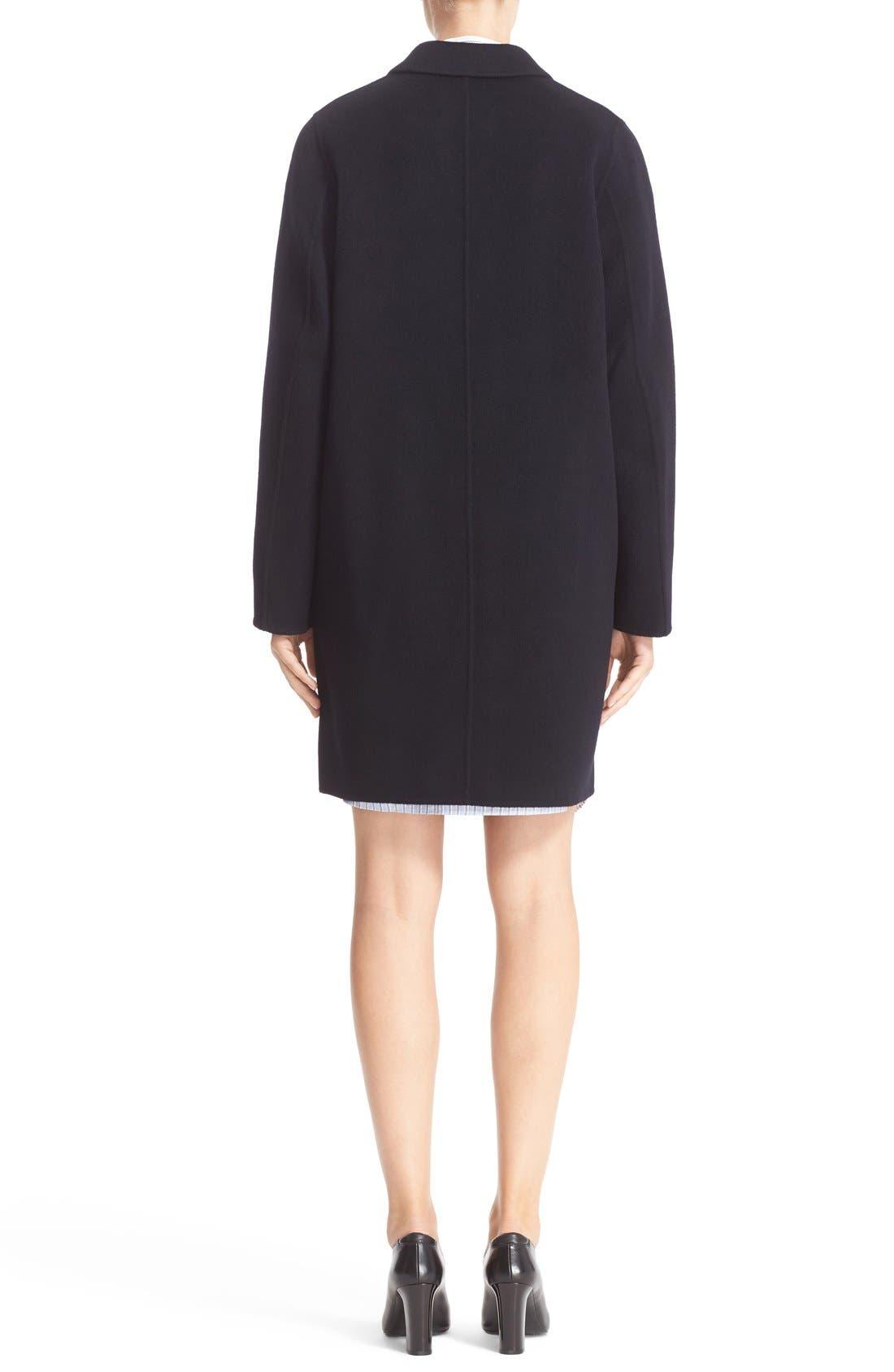 Elsa Double Wool & Cashmere Cocoon Coat,                             Alternate thumbnail 3, color,                             410
