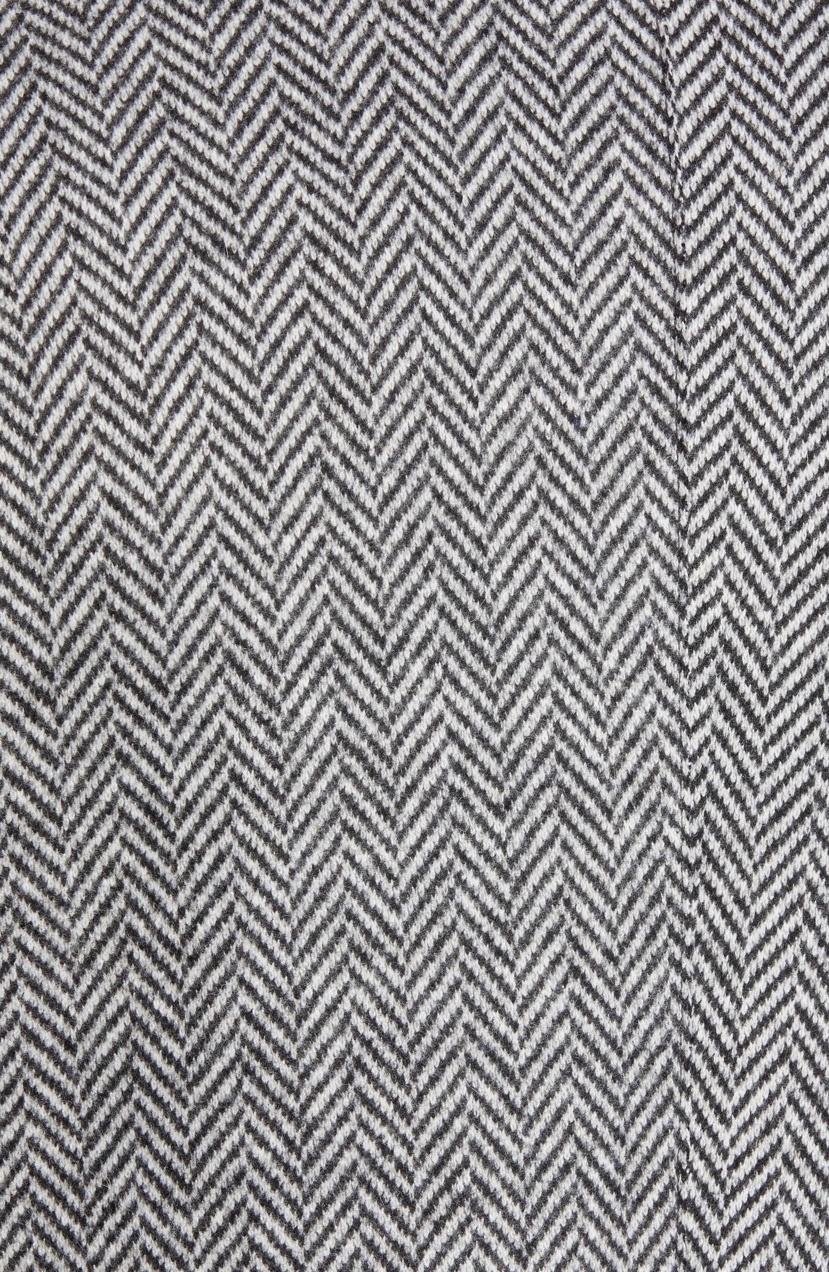 Trim Fit Wool Blend Top Coat,                             Alternate thumbnail 7, color,                             GREY