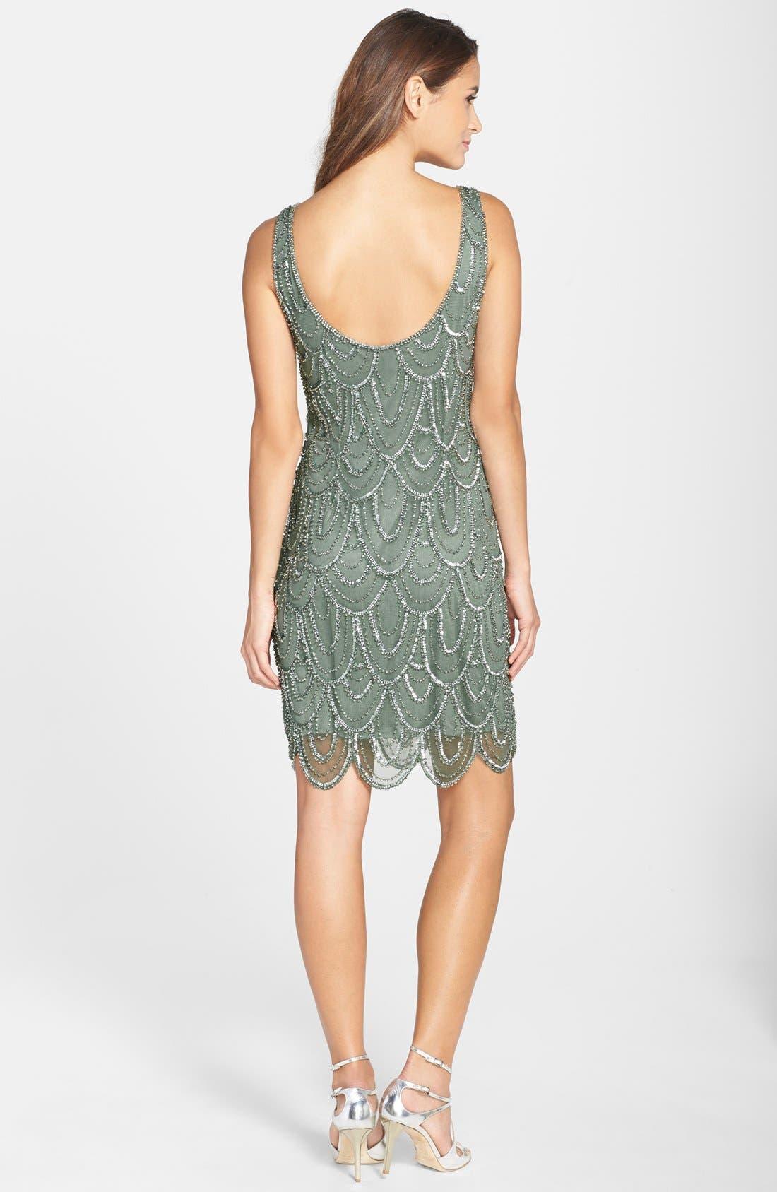 Embellished Mesh Sheath Dress,                             Alternate thumbnail 53, color,