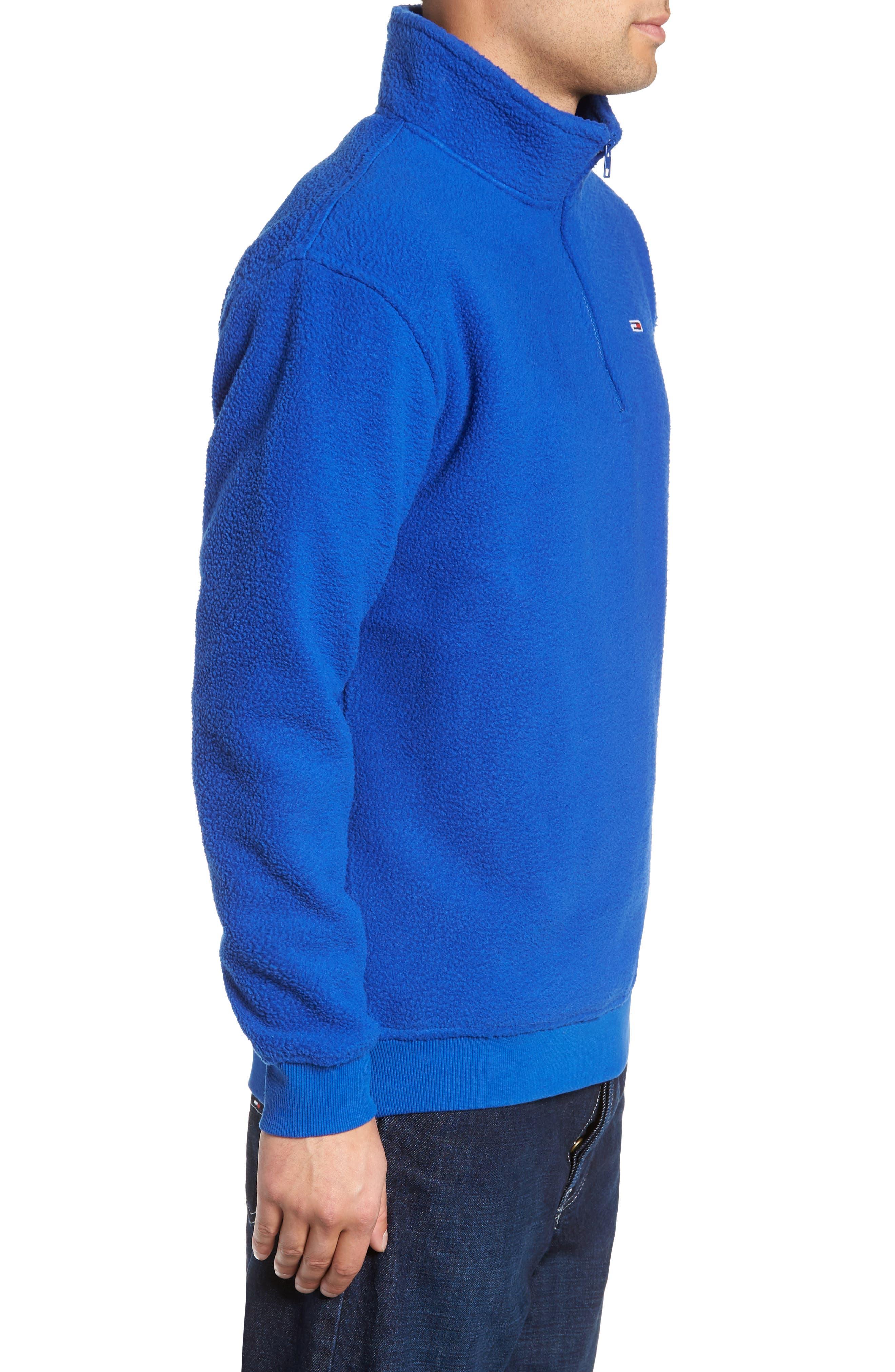 TJM Classics Half Zip Fleece Pullover,                             Alternate thumbnail 3, color,                             SURF THE WEB