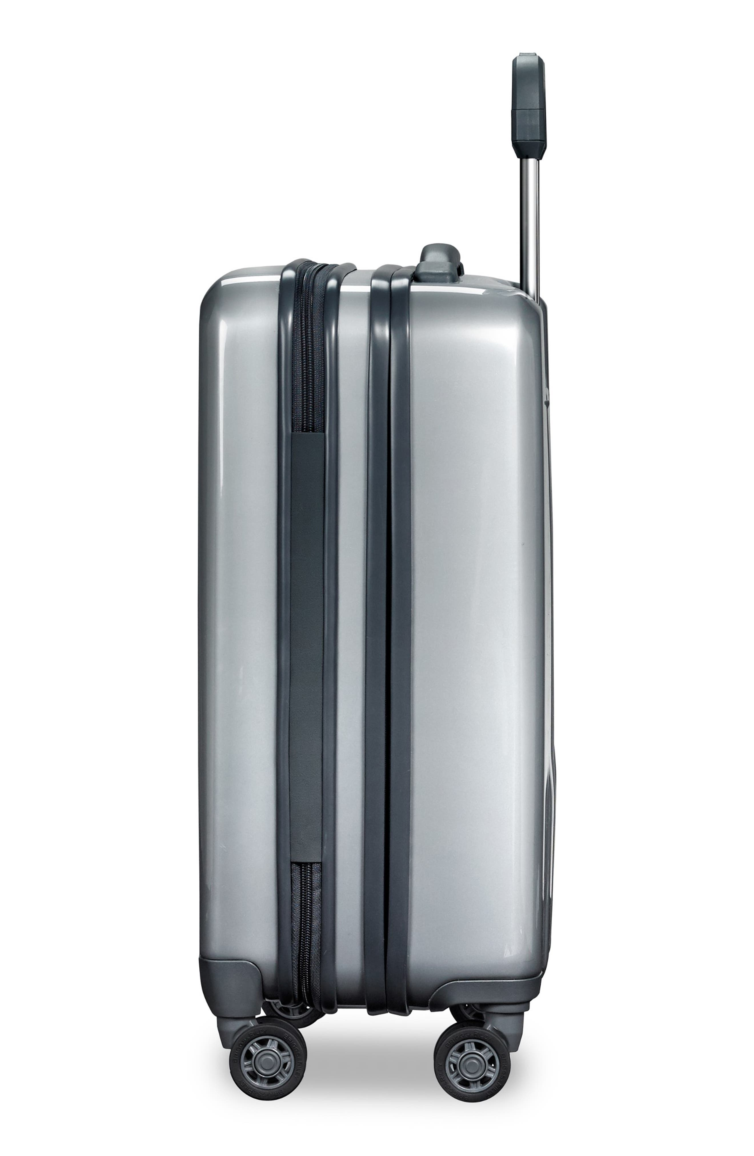 Sympatico Special Edition Expandable 21-Inch Spinner International Carry-On,                             Alternate thumbnail 4, color,                             SILVER