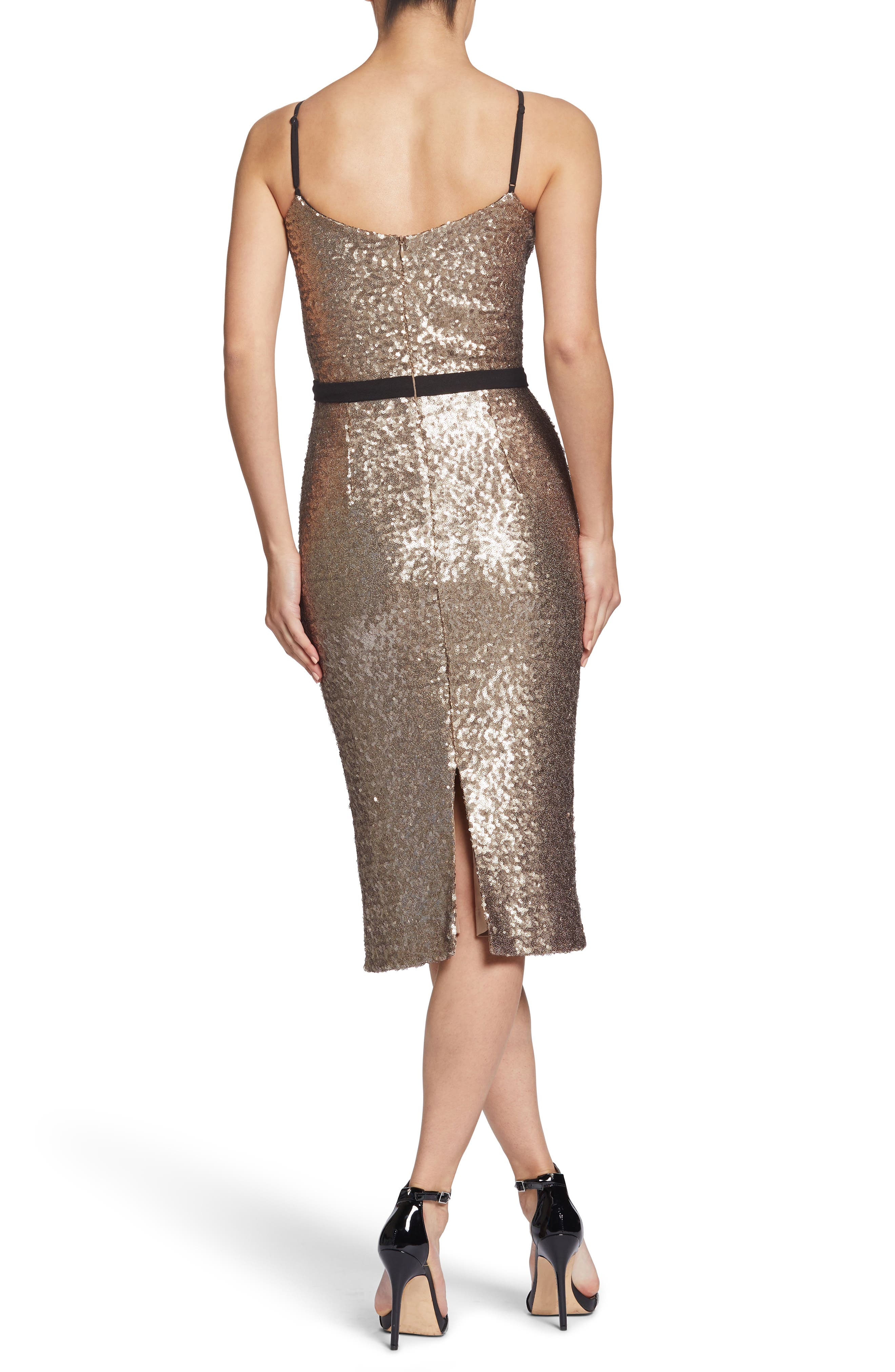 Emma Sequin Body-Con Dress,                             Alternate thumbnail 2, color,                             717