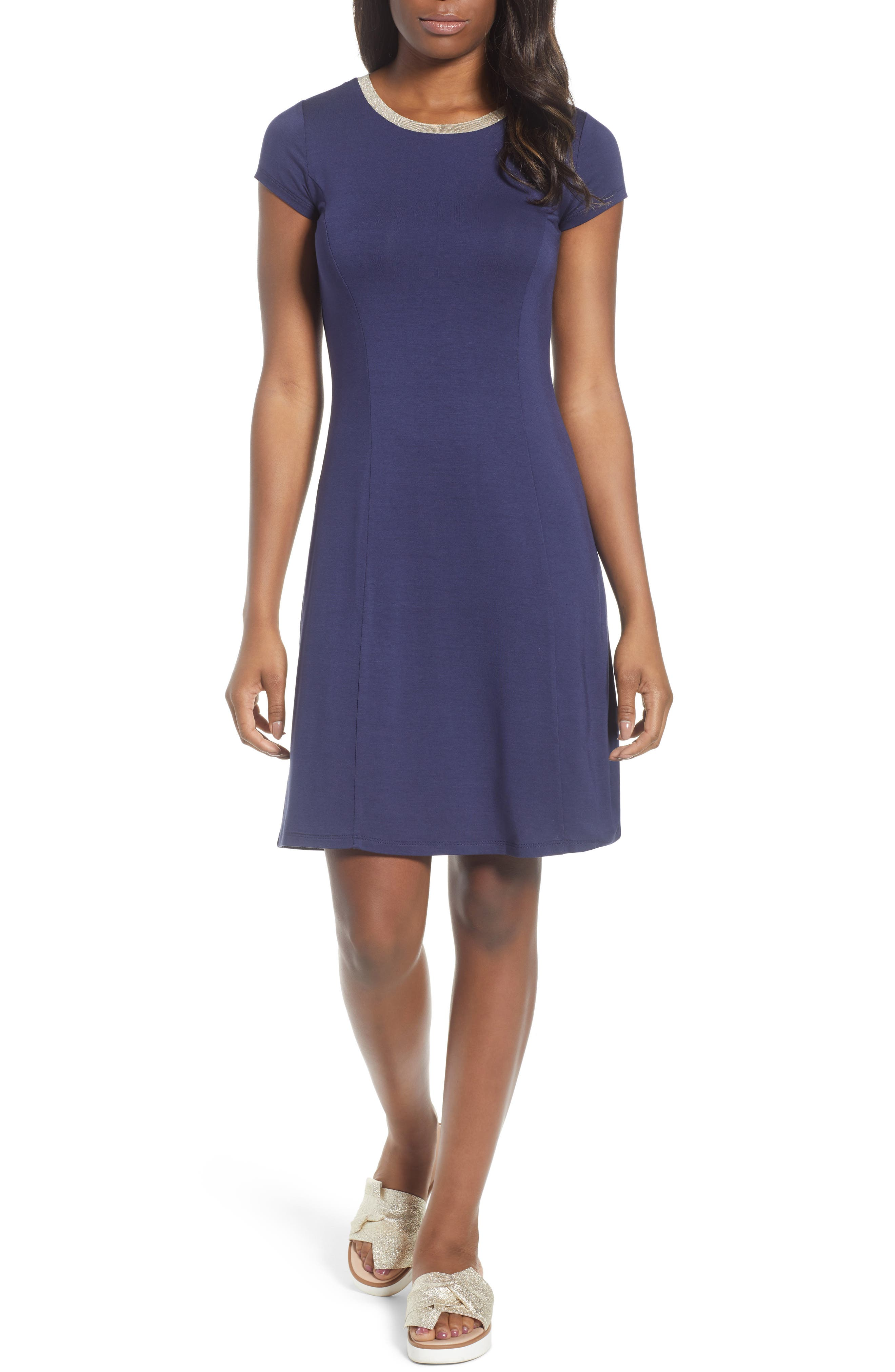 Crewneck Dress,                             Main thumbnail 1, color,                             456