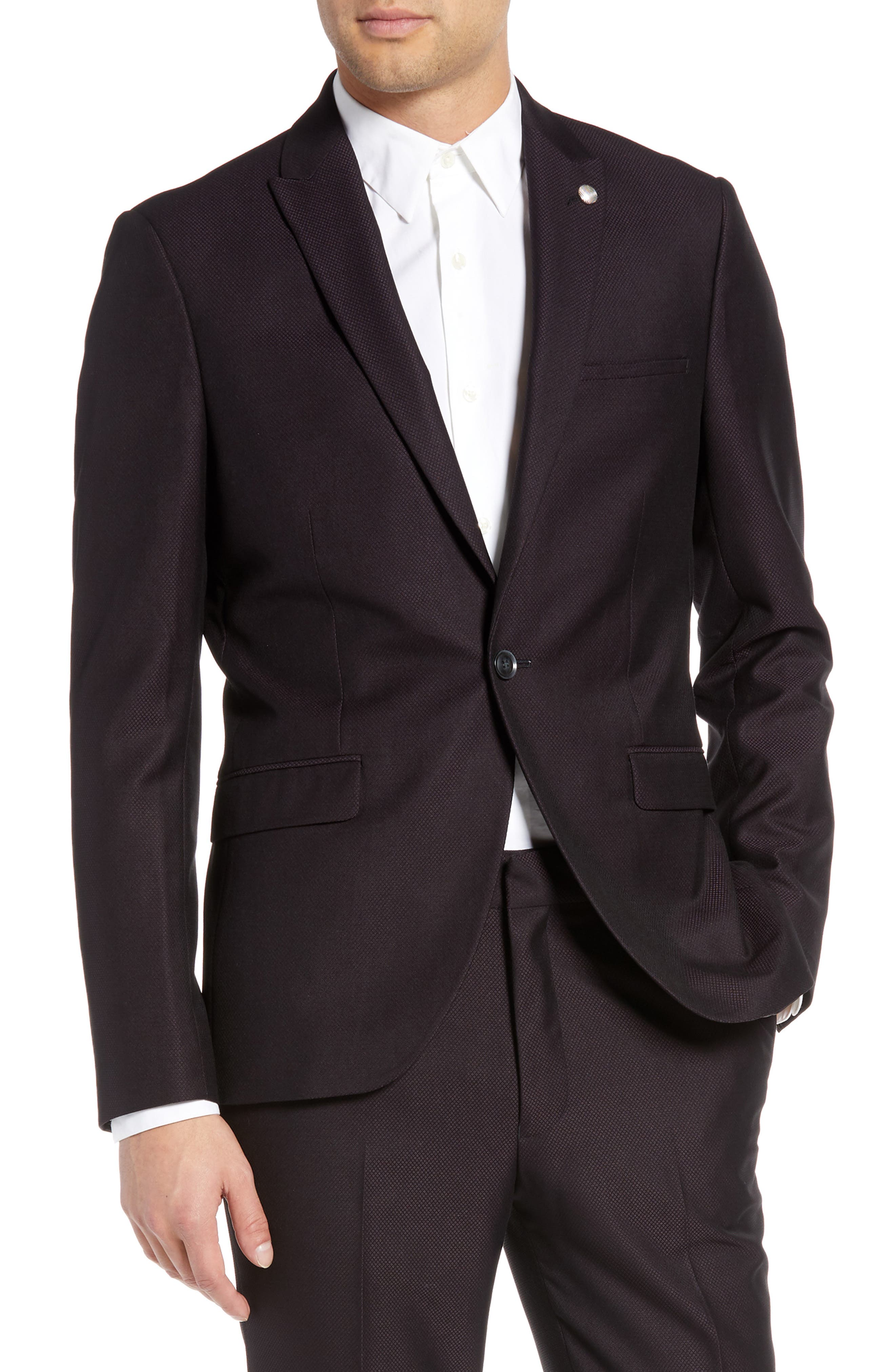 TOPMAN Bicester Skinny Fit Suit Jacket, Main, color, 930