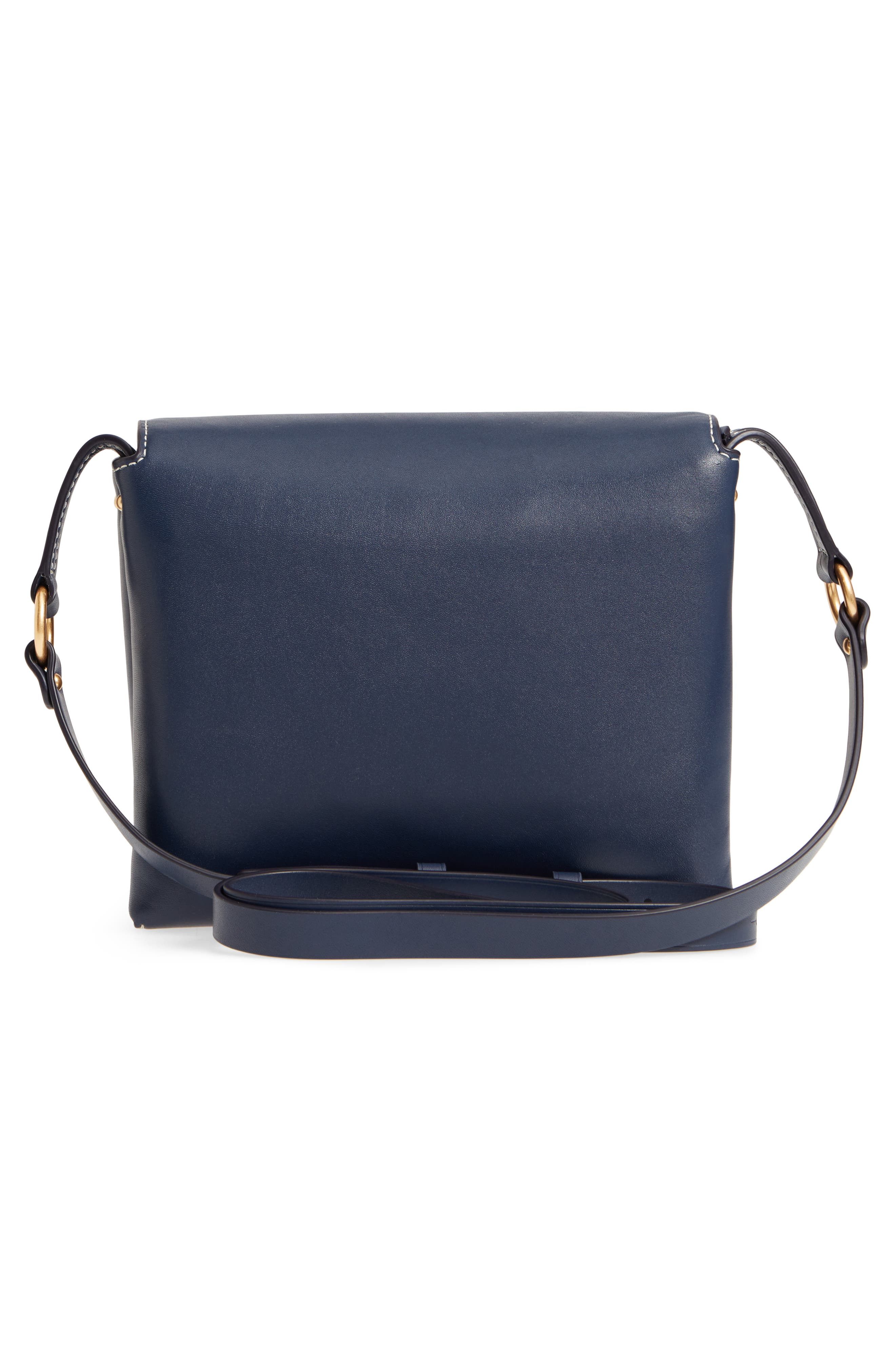 Miller Leather Crossbody Bag,                             Alternate thumbnail 3, color,                             ROYAL NAVY