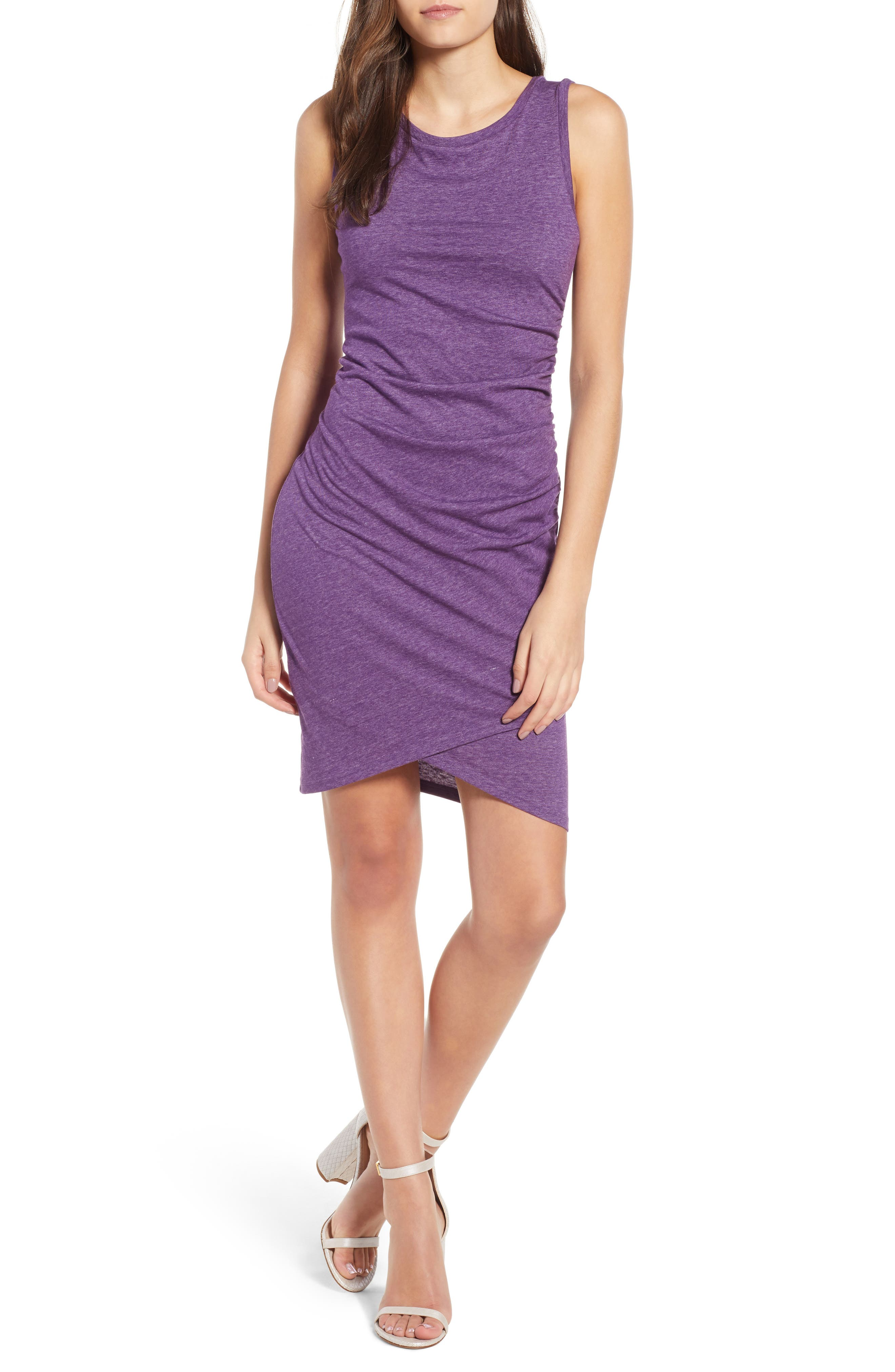 Ruched Body-Con Tank Dress,                             Main thumbnail 10, color,