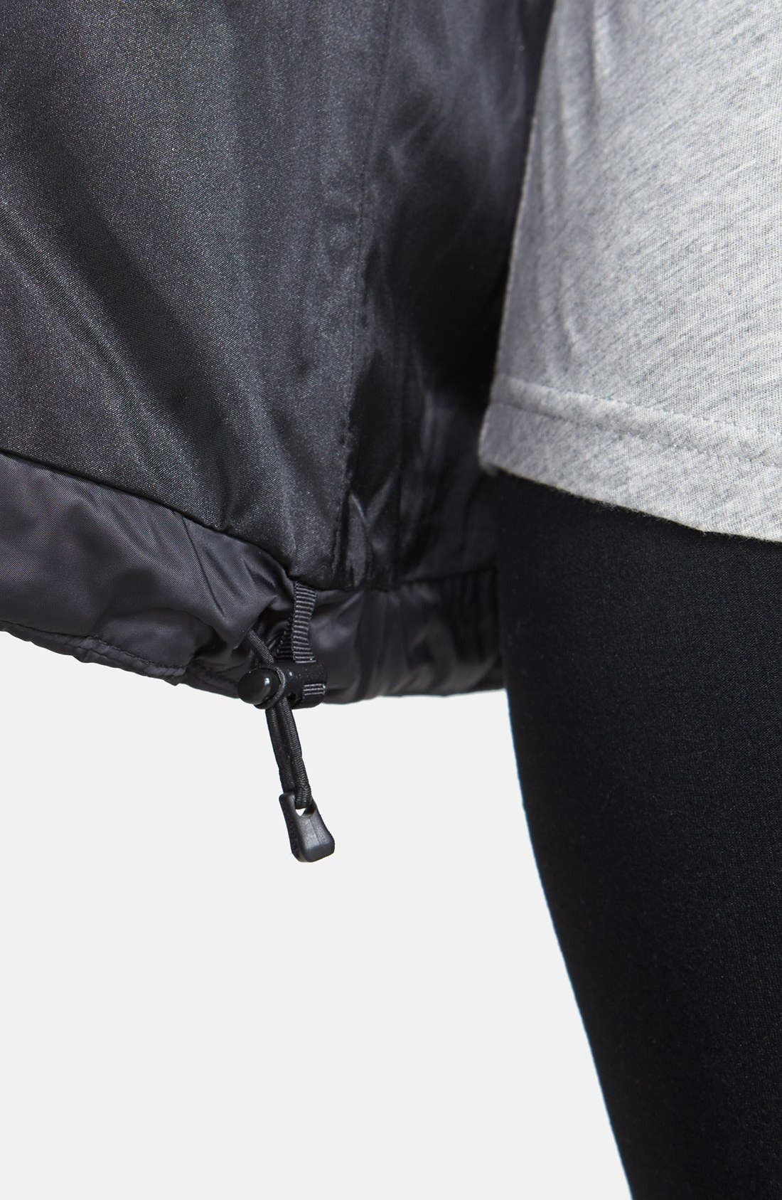 'Parkina' Belted Down Jacket,                             Alternate thumbnail 5, color,                             001
