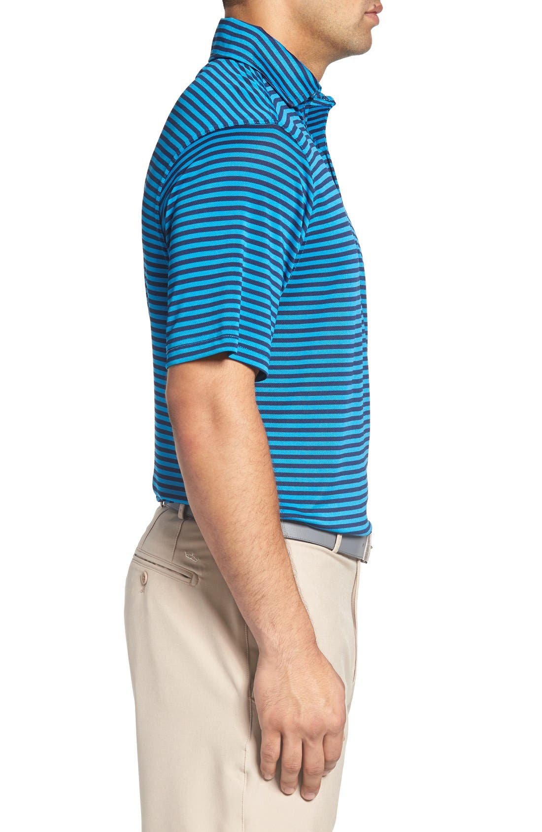 XH2O Feed Stripe Stretch Golf Polo,                             Alternate thumbnail 48, color,