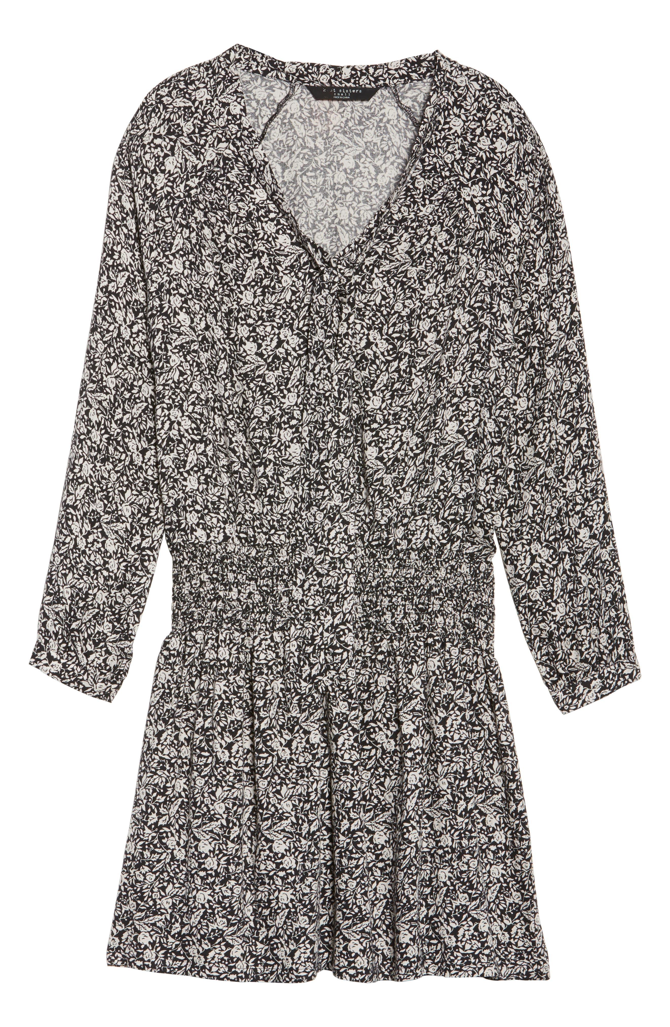 Ivy Blouson Dress,                             Alternate thumbnail 6, color,                             001