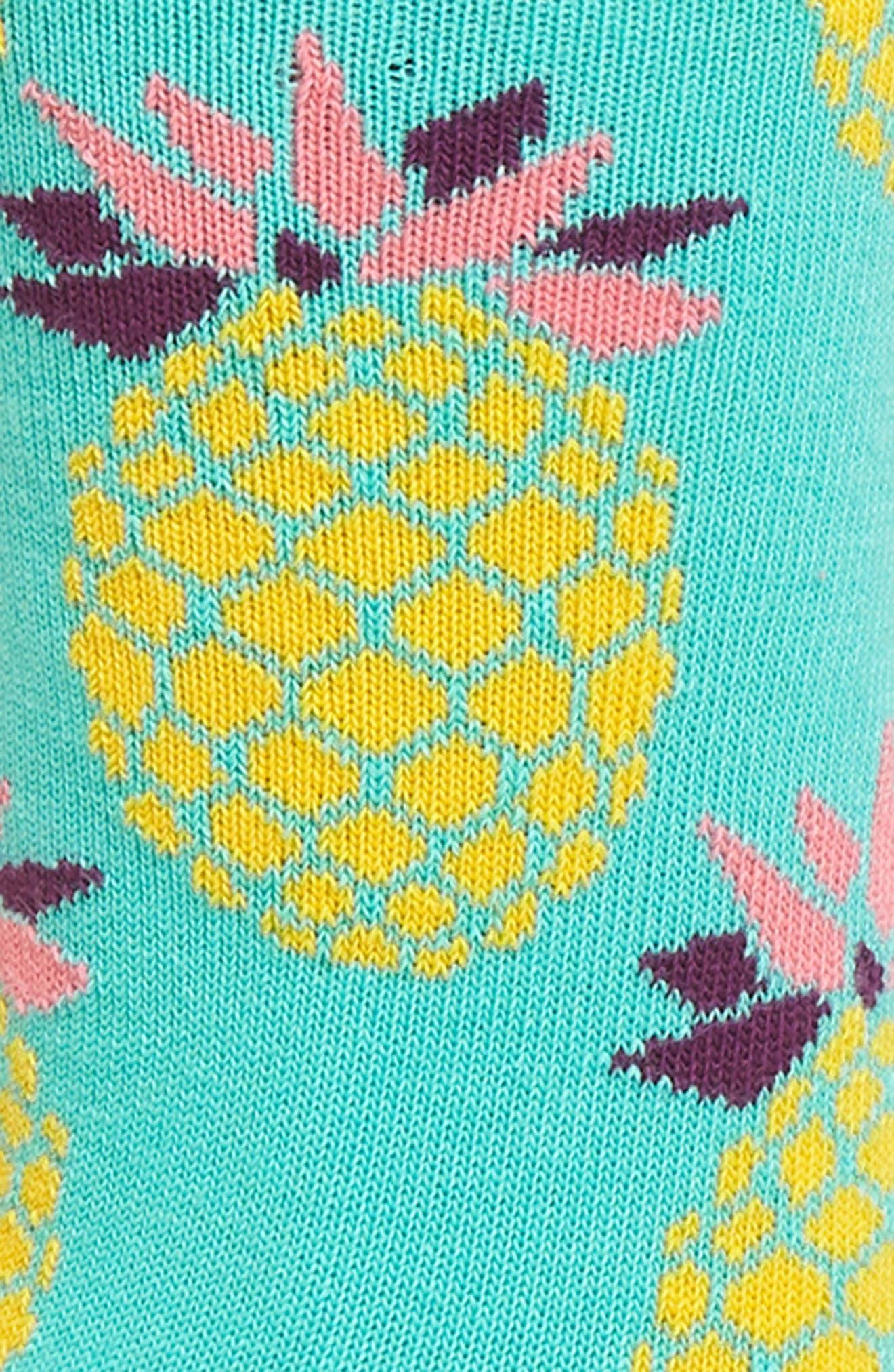 Pineapple Crew Socks,                             Alternate thumbnail 2, color,                             314