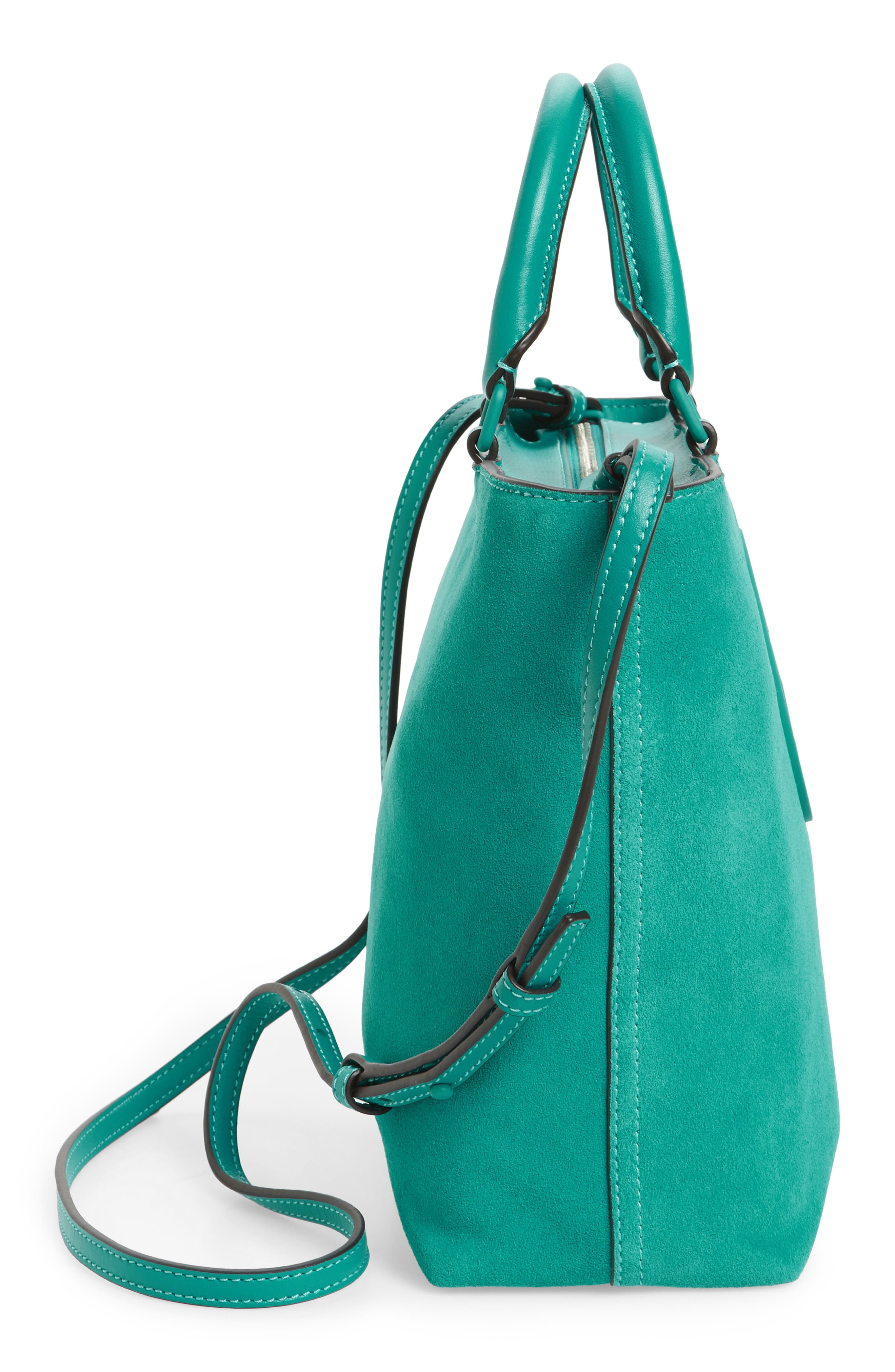 Small Charlie Suede Tote,                             Alternate thumbnail 5, color,                             336