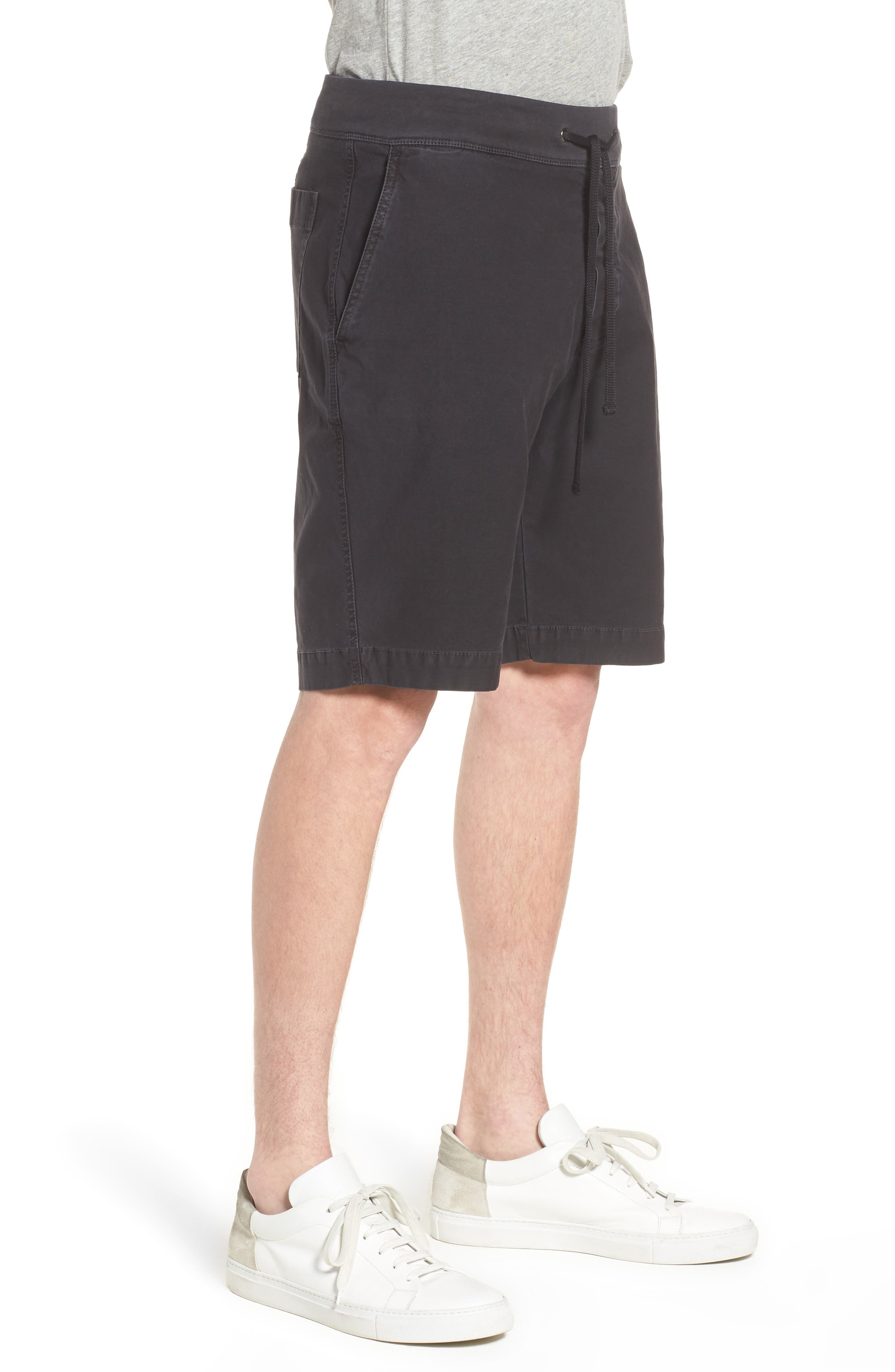 JAMES PERSE,                             Compact Stretch Cotton Shorts,                             Alternate thumbnail 3, color,                             020