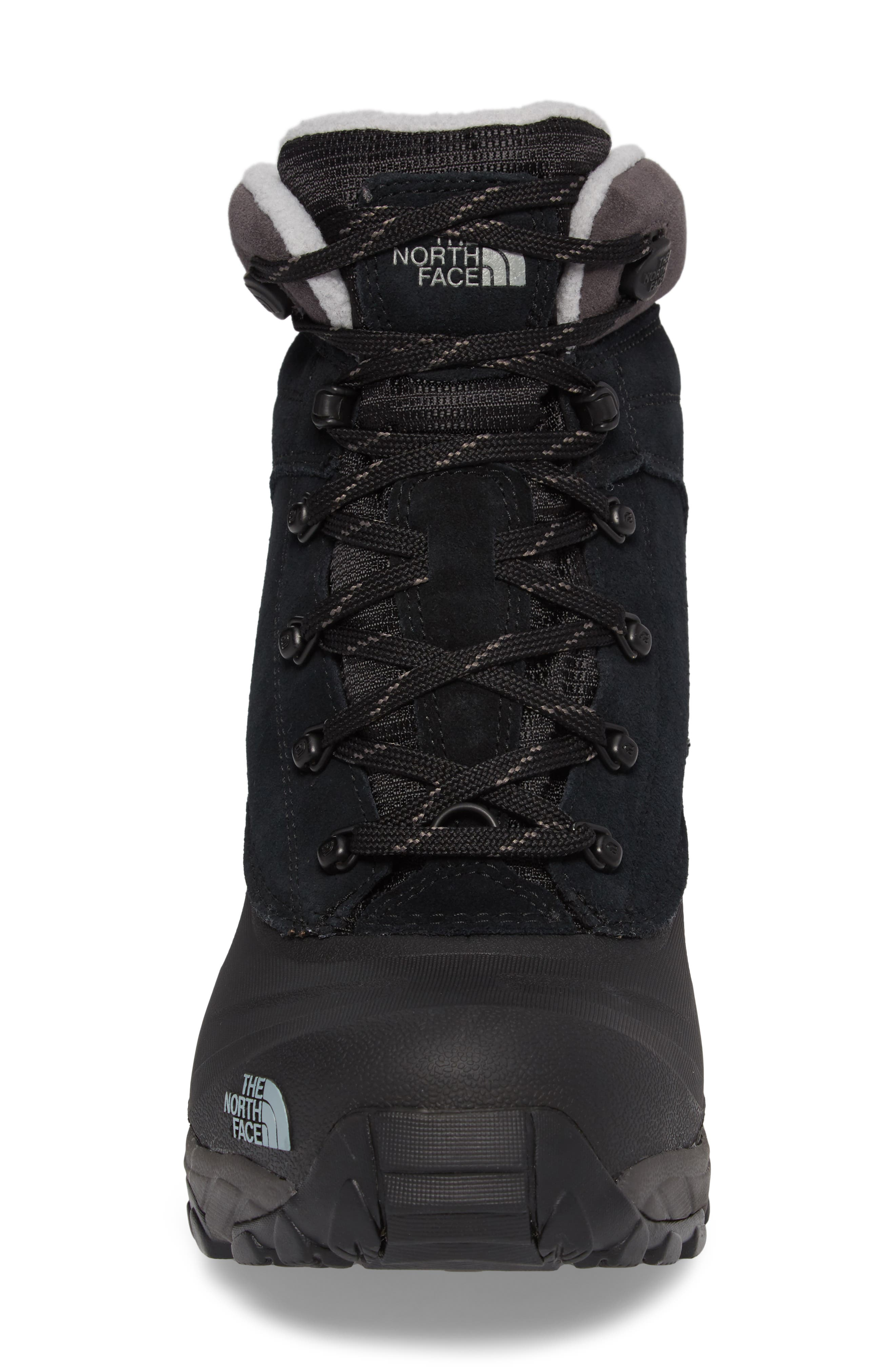 Chilkat III Waterproof Insulated Boot,                             Alternate thumbnail 4, color,                             TNF BLACK