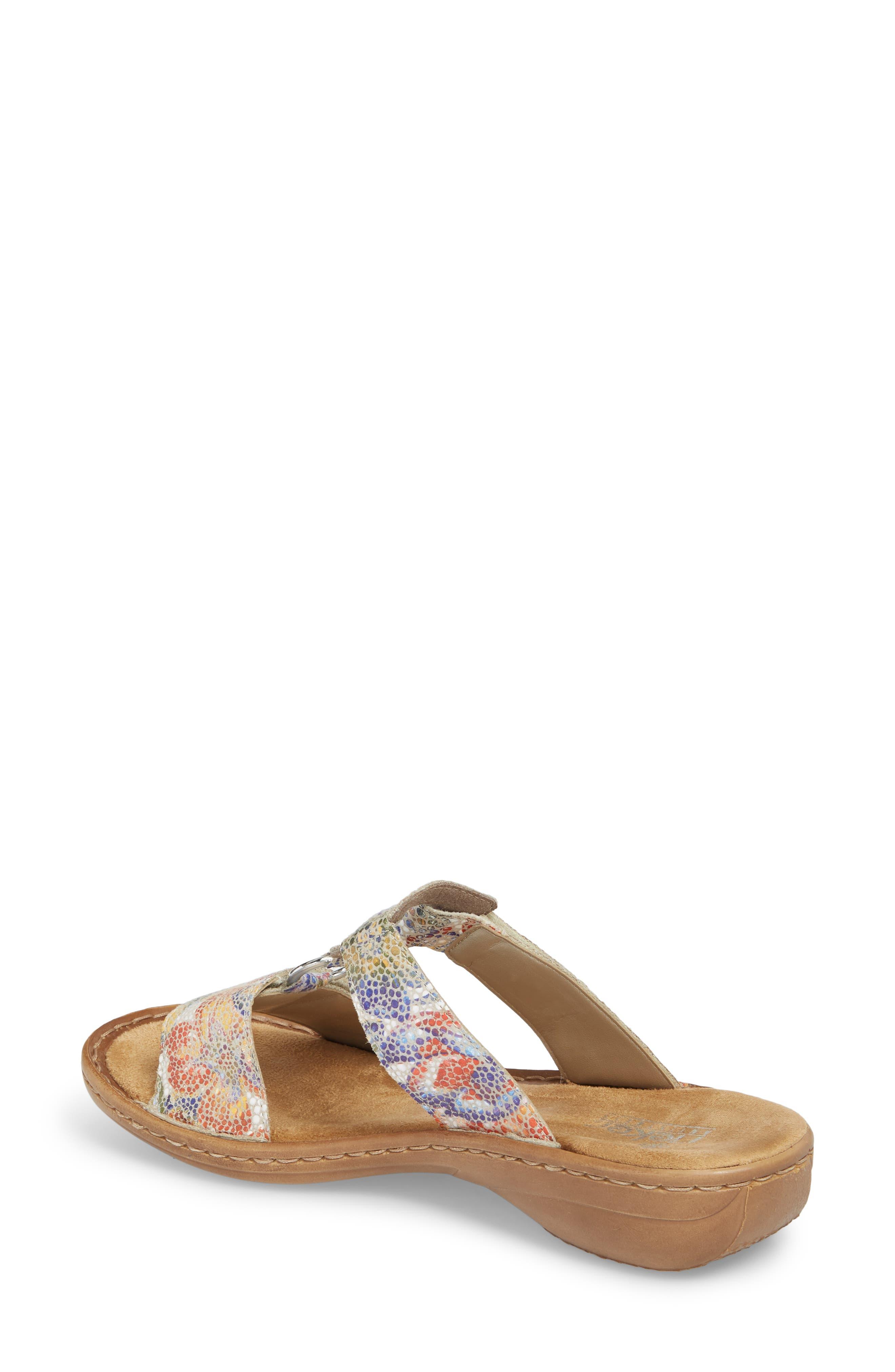 Regina P9 Slide Sandal,                             Alternate thumbnail 2, color,                             WHITE MULTI FABRIC