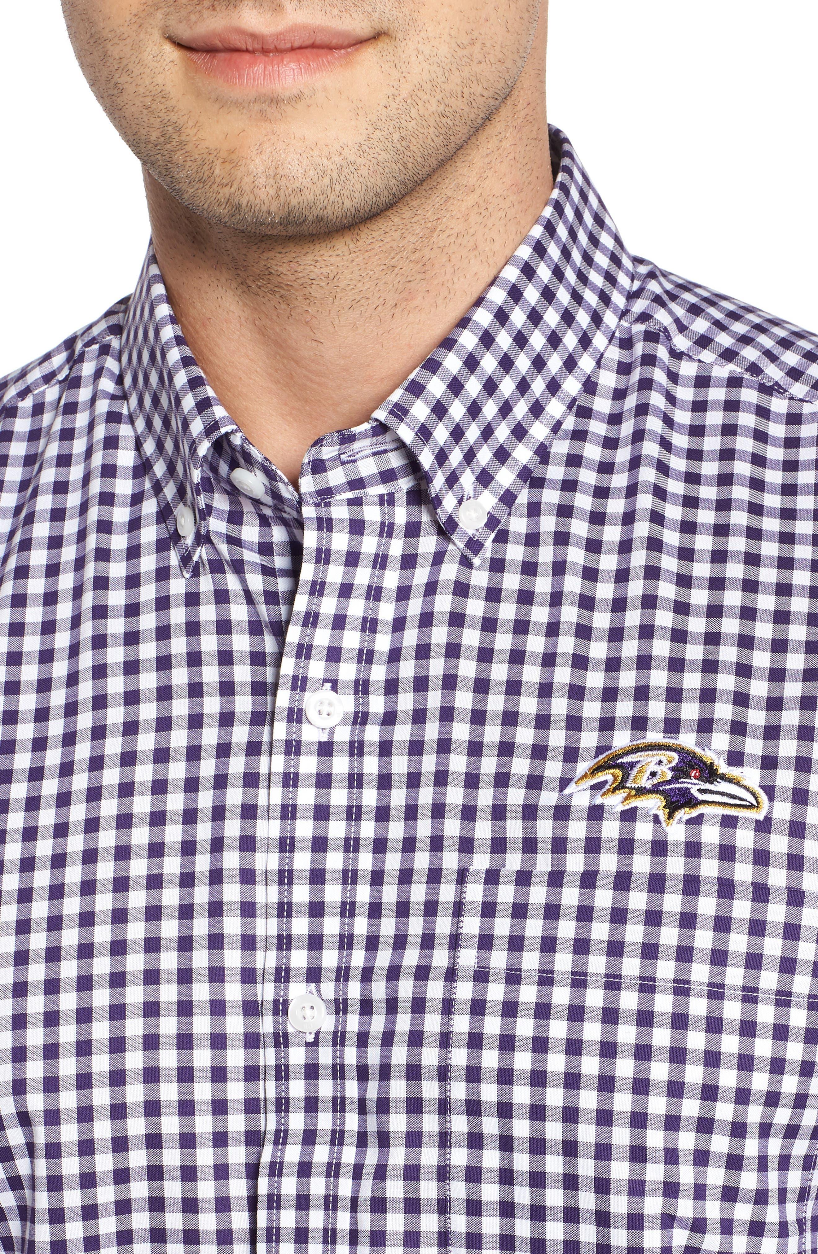 League Baltimore Ravens Regular Fit Shirt,                             Alternate thumbnail 4, color,                             COLLEGE PURPLE