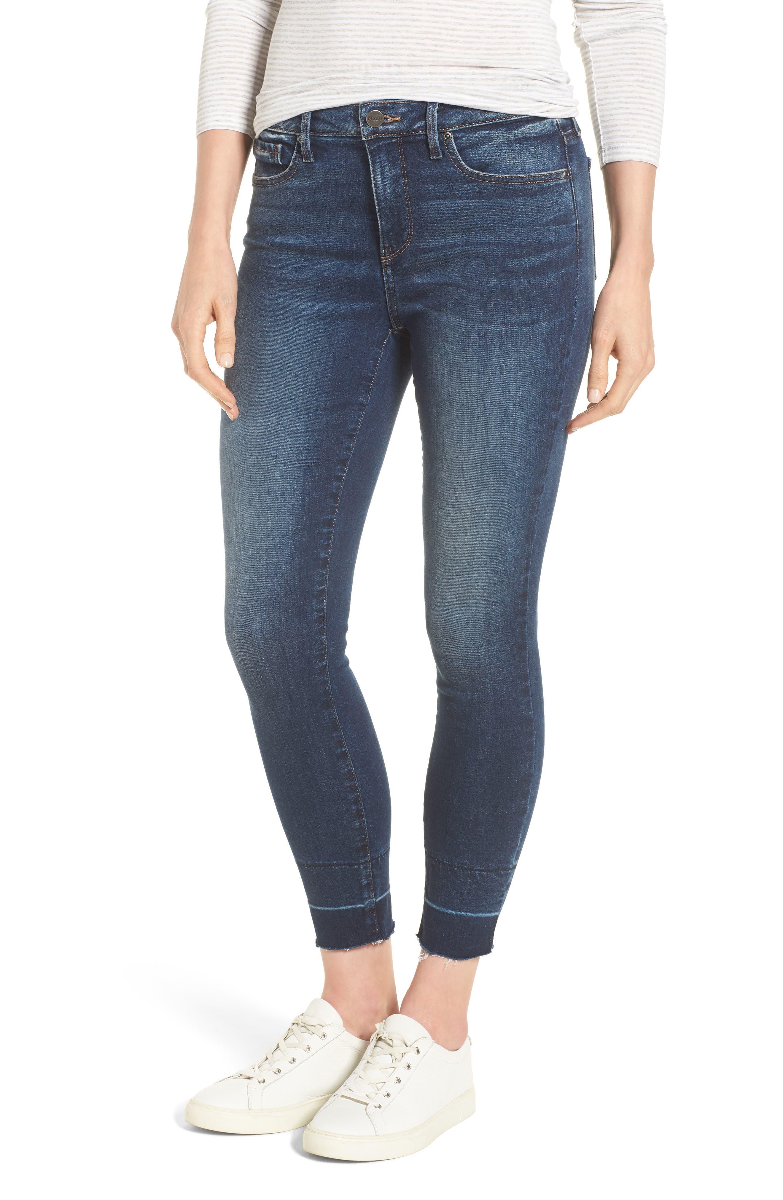 NYDJ Ami Wide Release Hem Super Skinny Jeans, Main, color, 403