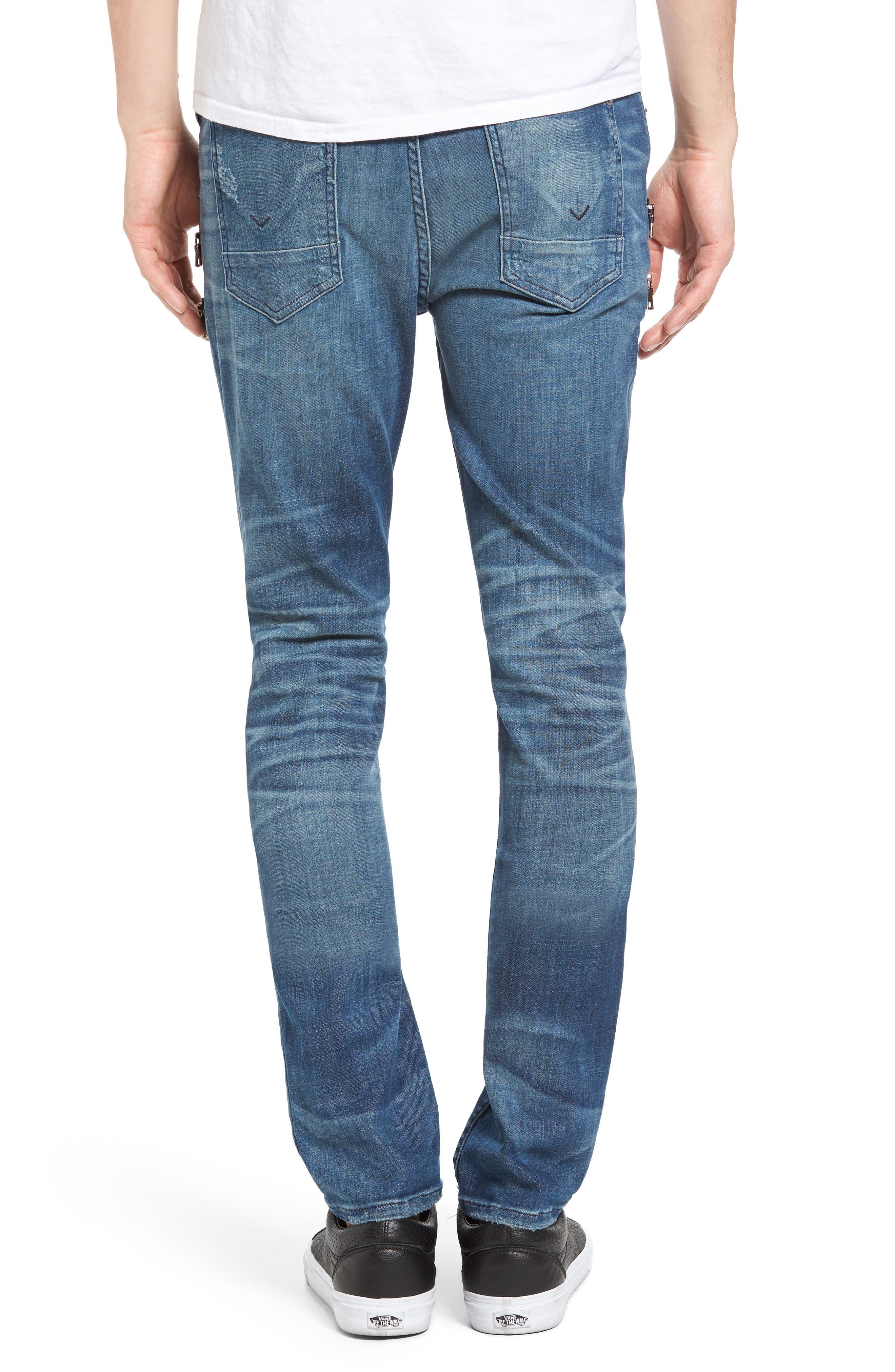 Broderick Biker Skinny Fit Jeans,                             Alternate thumbnail 2, color,                             455