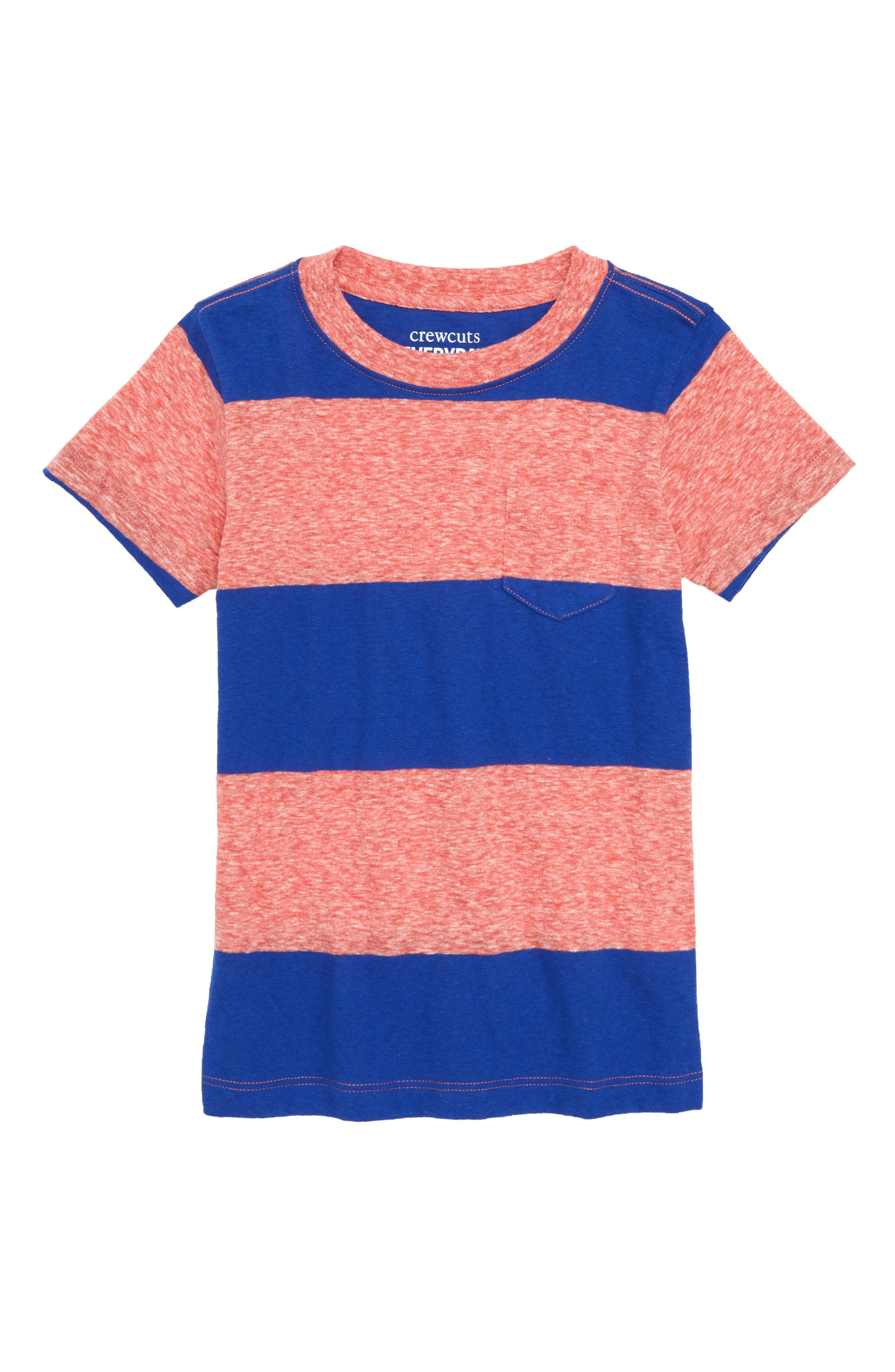 CREWCUTS BY J.CREW,                             Rugby Stripe Shirt,                             Main thumbnail 1, color,                             600