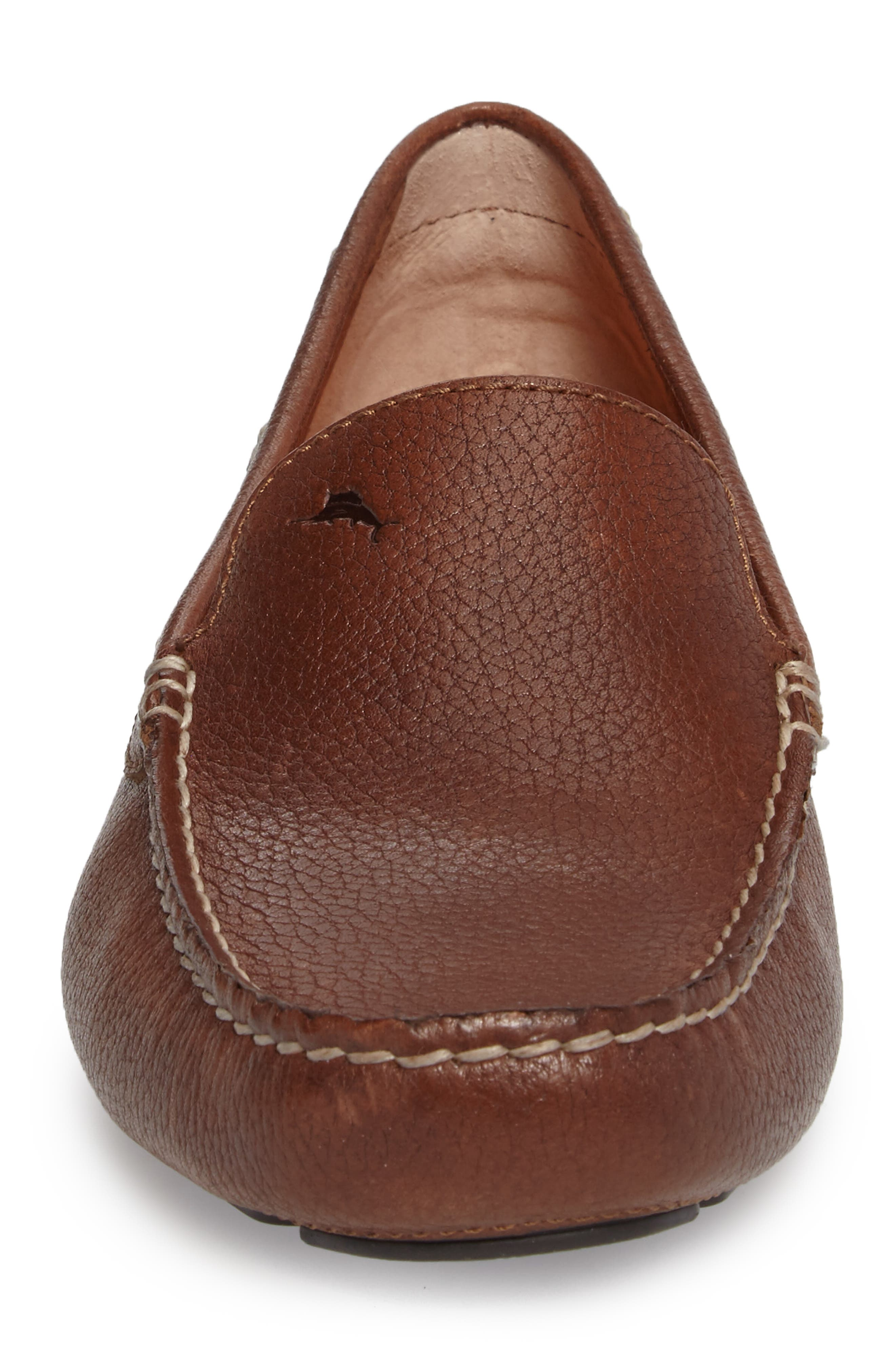 Pagota Driving Loafer,                             Alternate thumbnail 4, color,                             DARK BROWN LEATHER