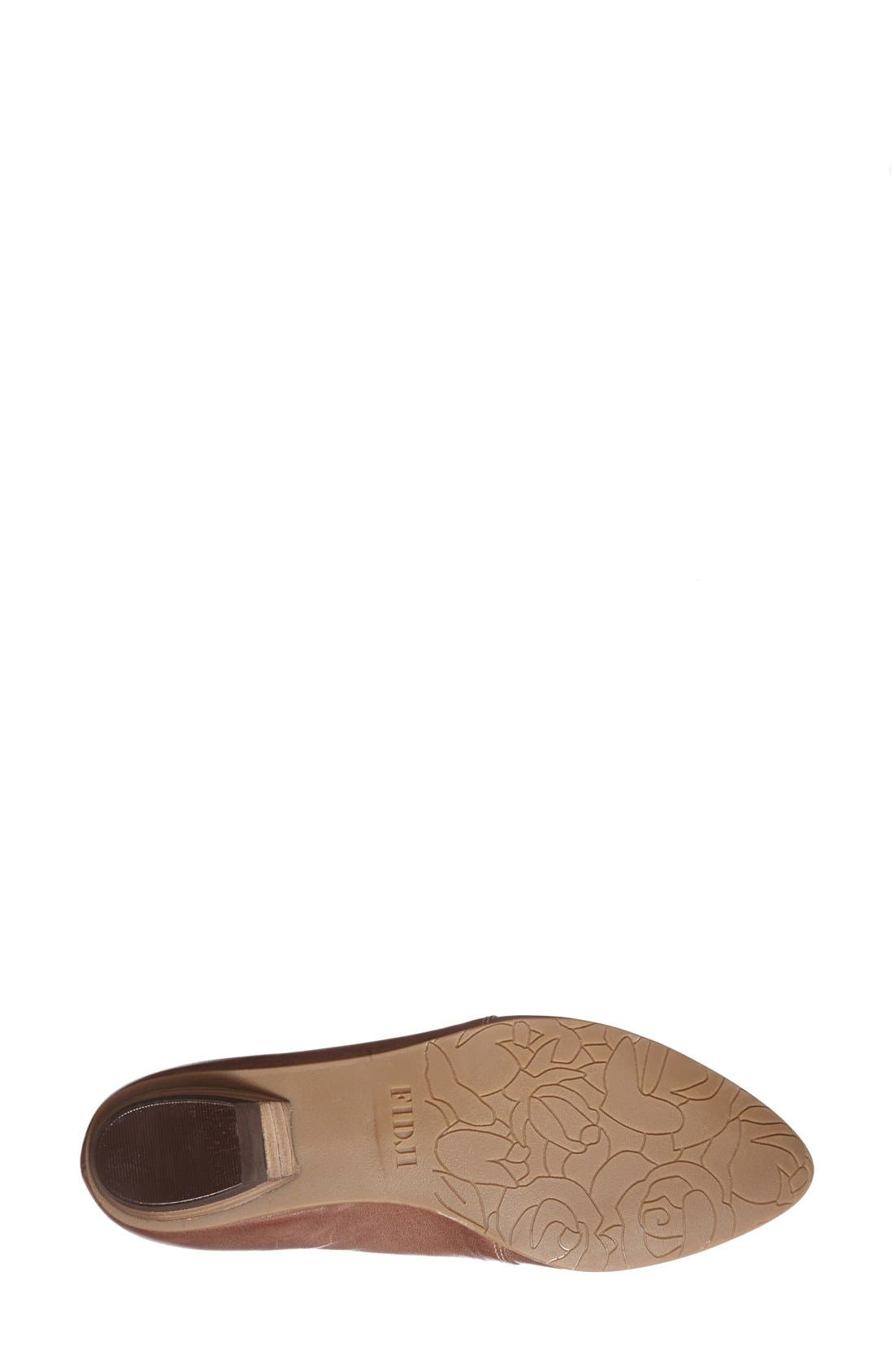 'V103' Leather Flat,                             Alternate thumbnail 4, color,                             BROWN