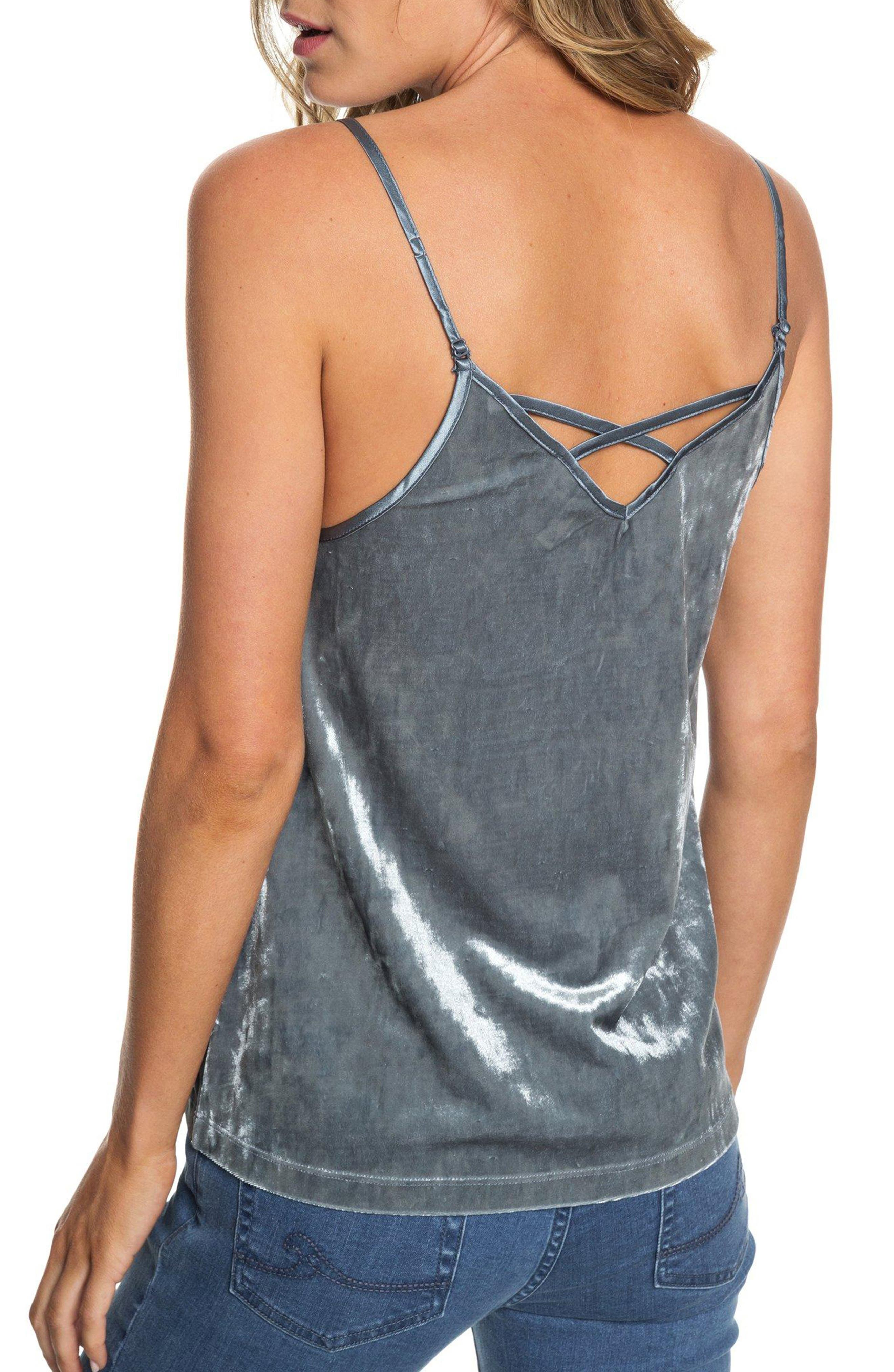 ROXY,                             You Are Pretty Velvet Camisole,                             Alternate thumbnail 2, color,                             TURBULENCE