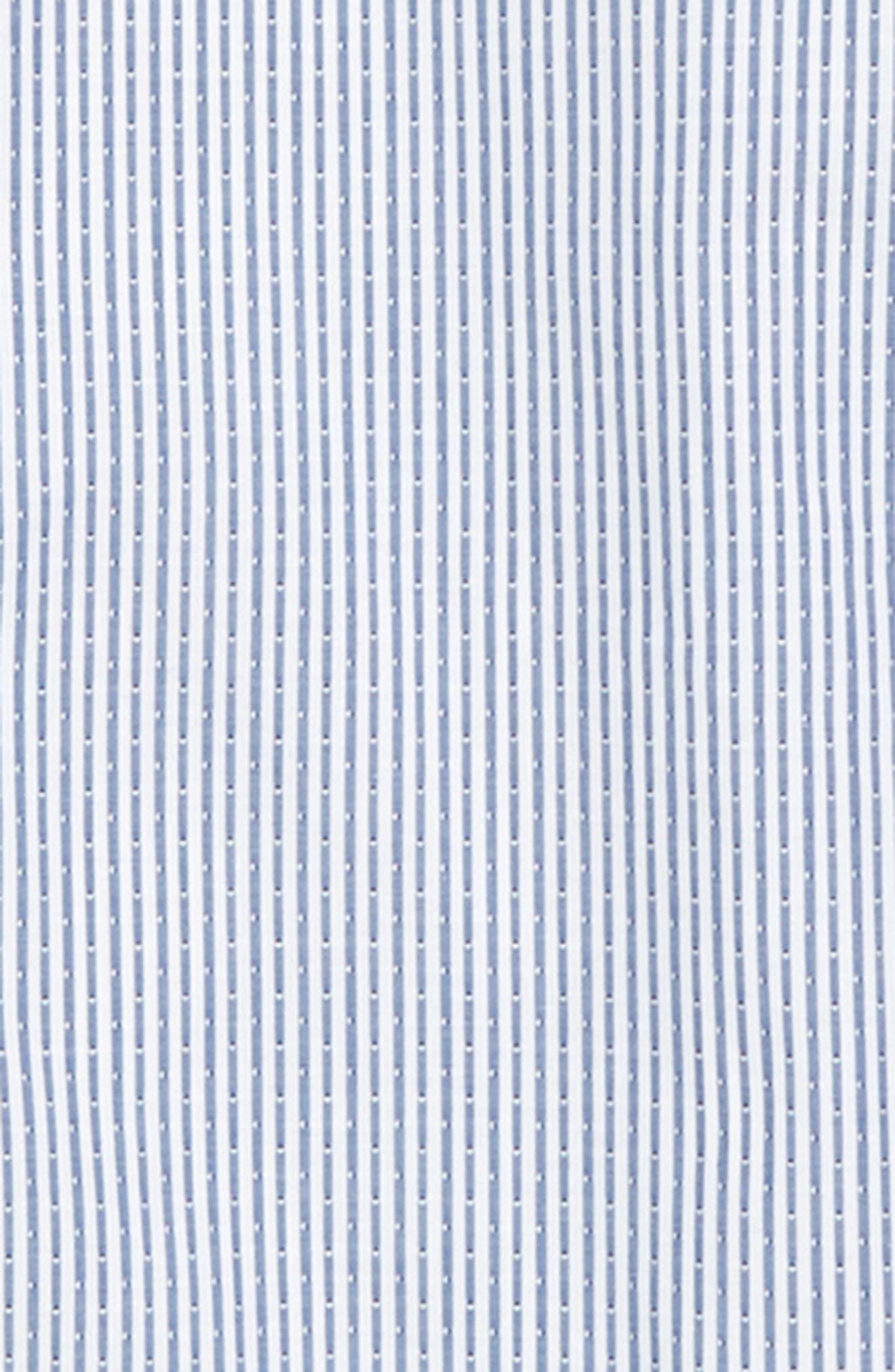 Stripe Dress Shirt,                             Alternate thumbnail 2, color,                             DARK BLUE