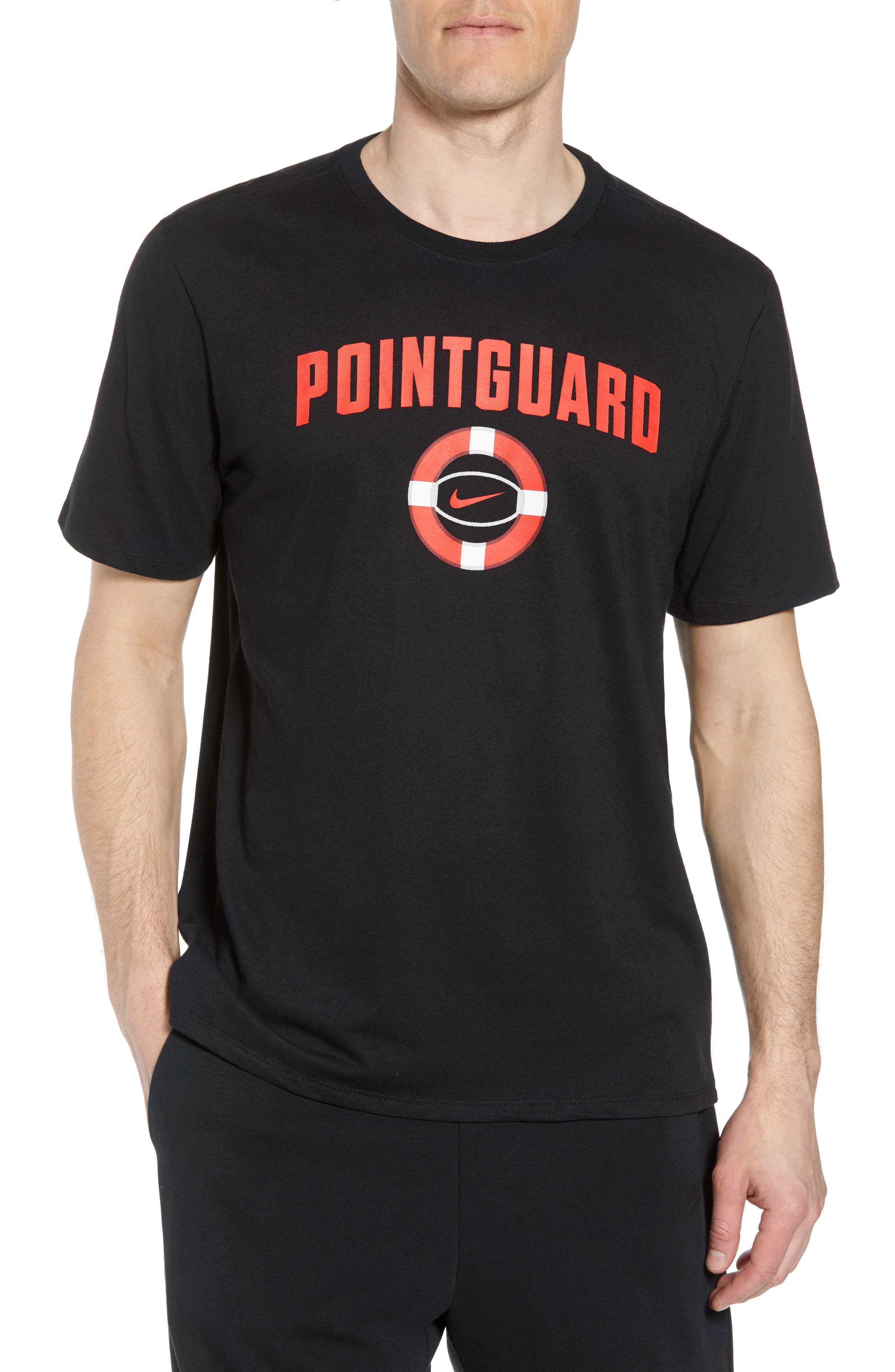 Dry Pointguard Graphic T-Shirt,                             Main thumbnail 1, color,                             BLACK/ BLACK