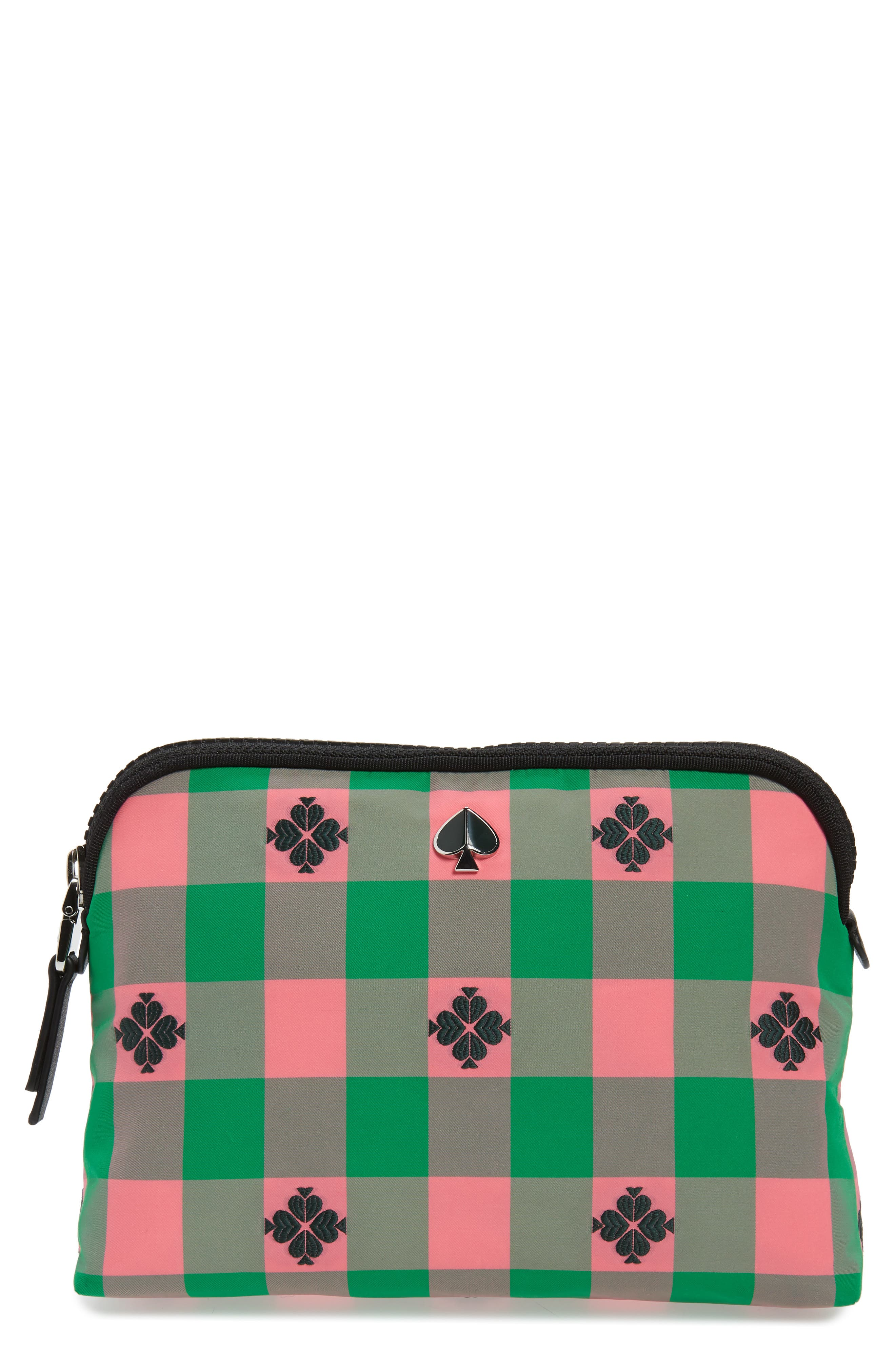 morley medium cosmetic pouch, Main, color, BRIGHT PINK MULTI
