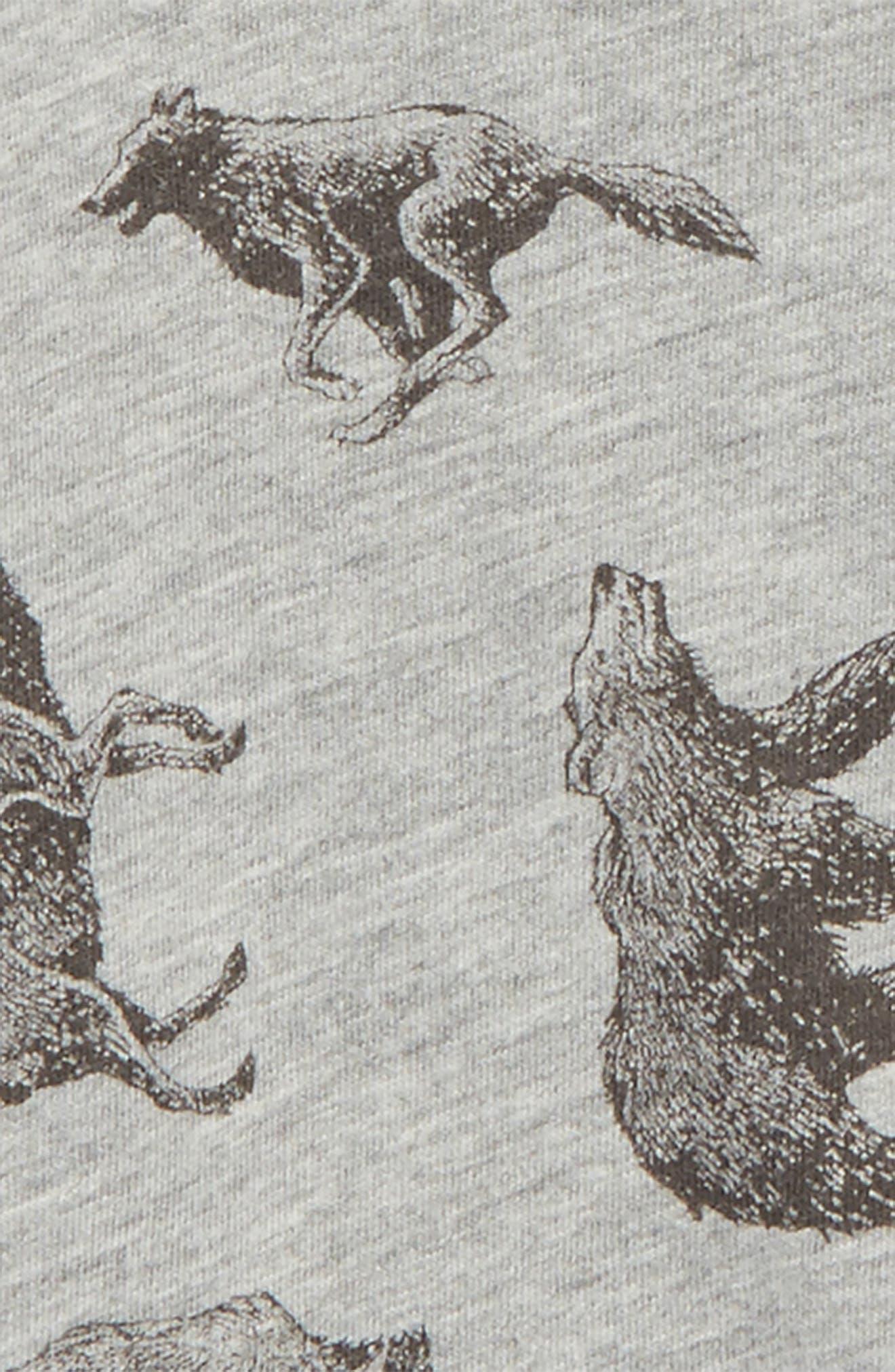 Allover Animal Print Raglan T-Shirt,                             Alternate thumbnail 4, color,                             031