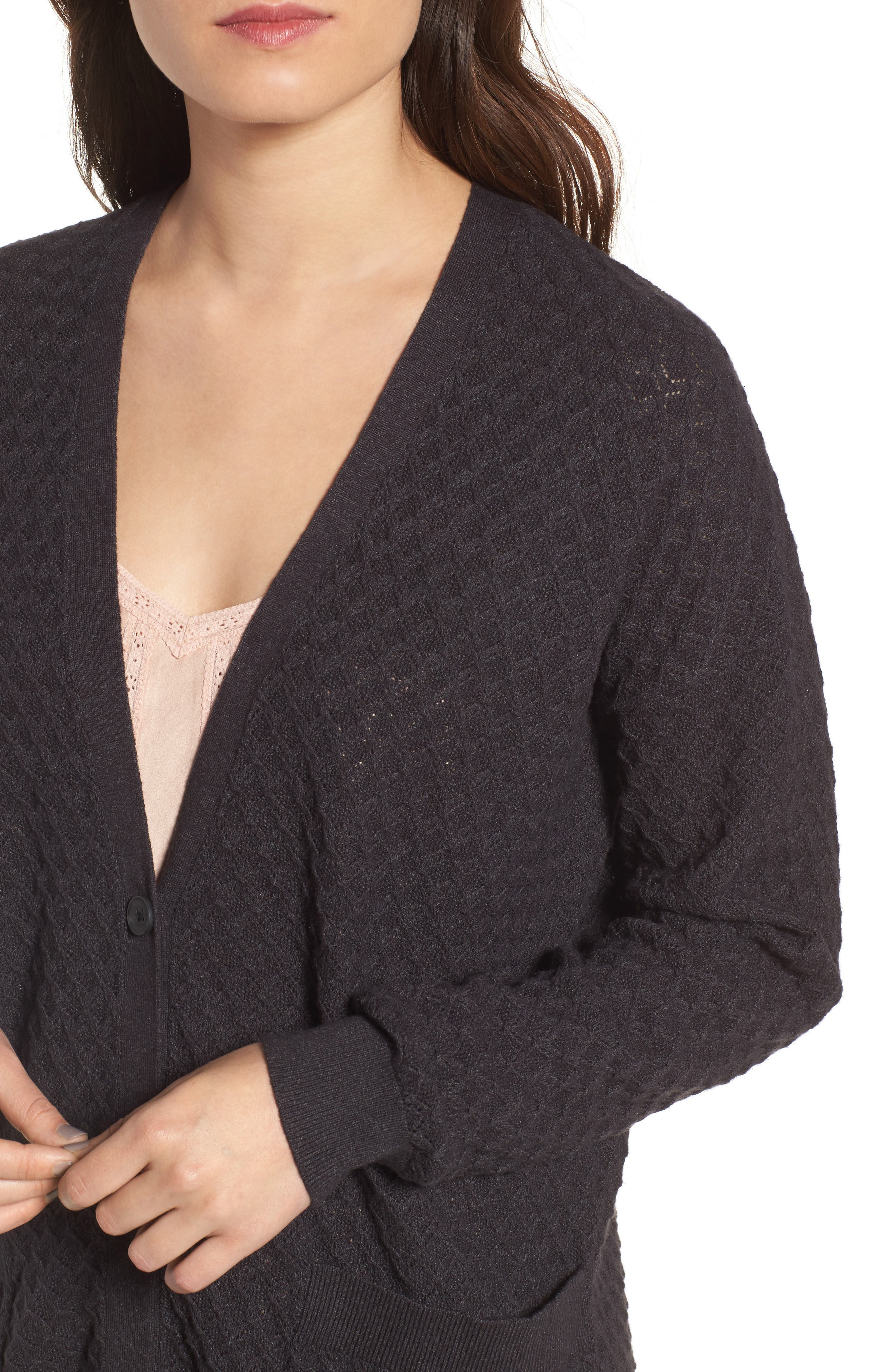 Pointelle Cardigan Sweater,                             Alternate thumbnail 13, color,