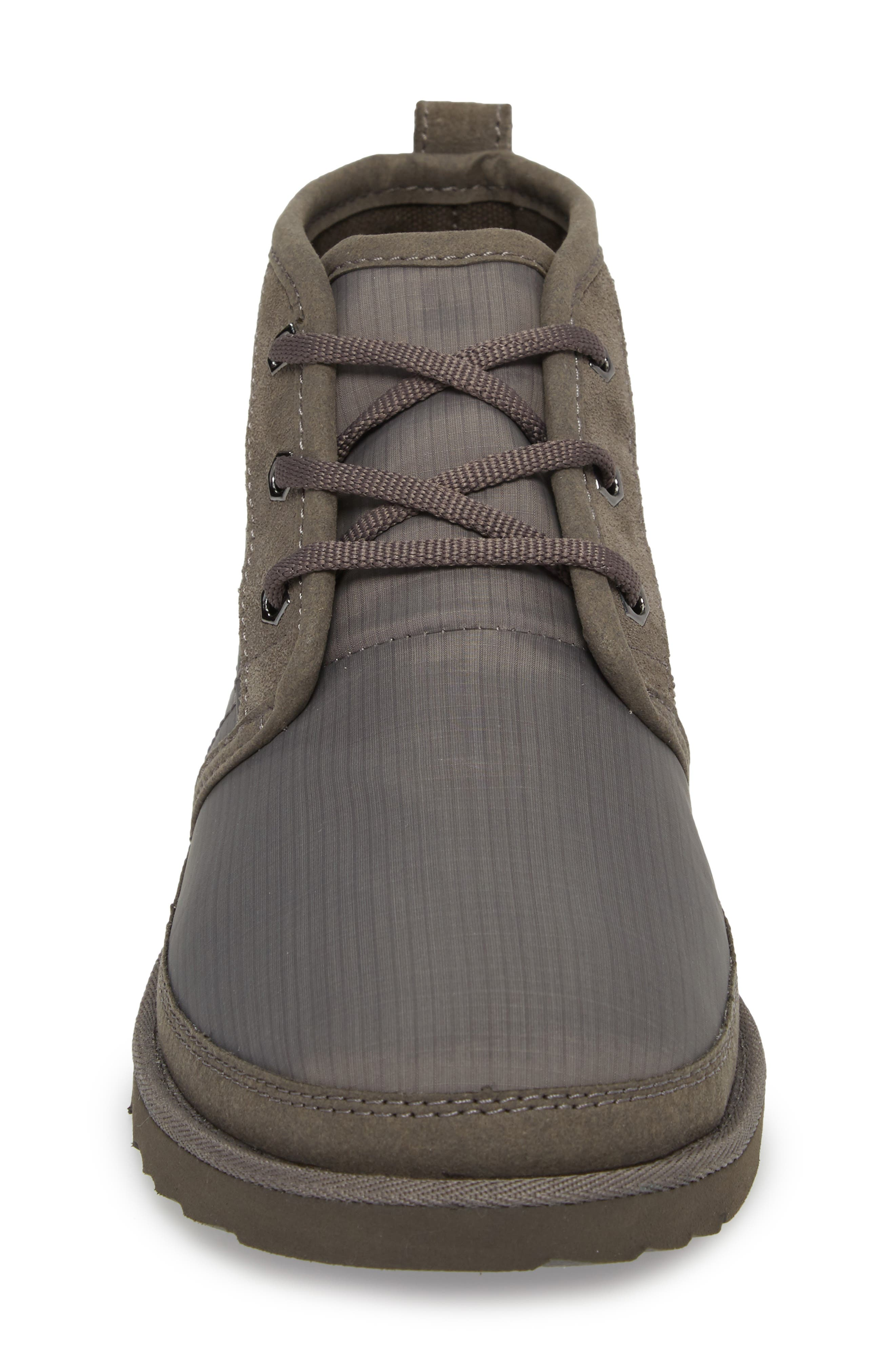 Neumel Ripstop Chukka Boot,                             Alternate thumbnail 4, color,                             CHARCOAL LEATHER