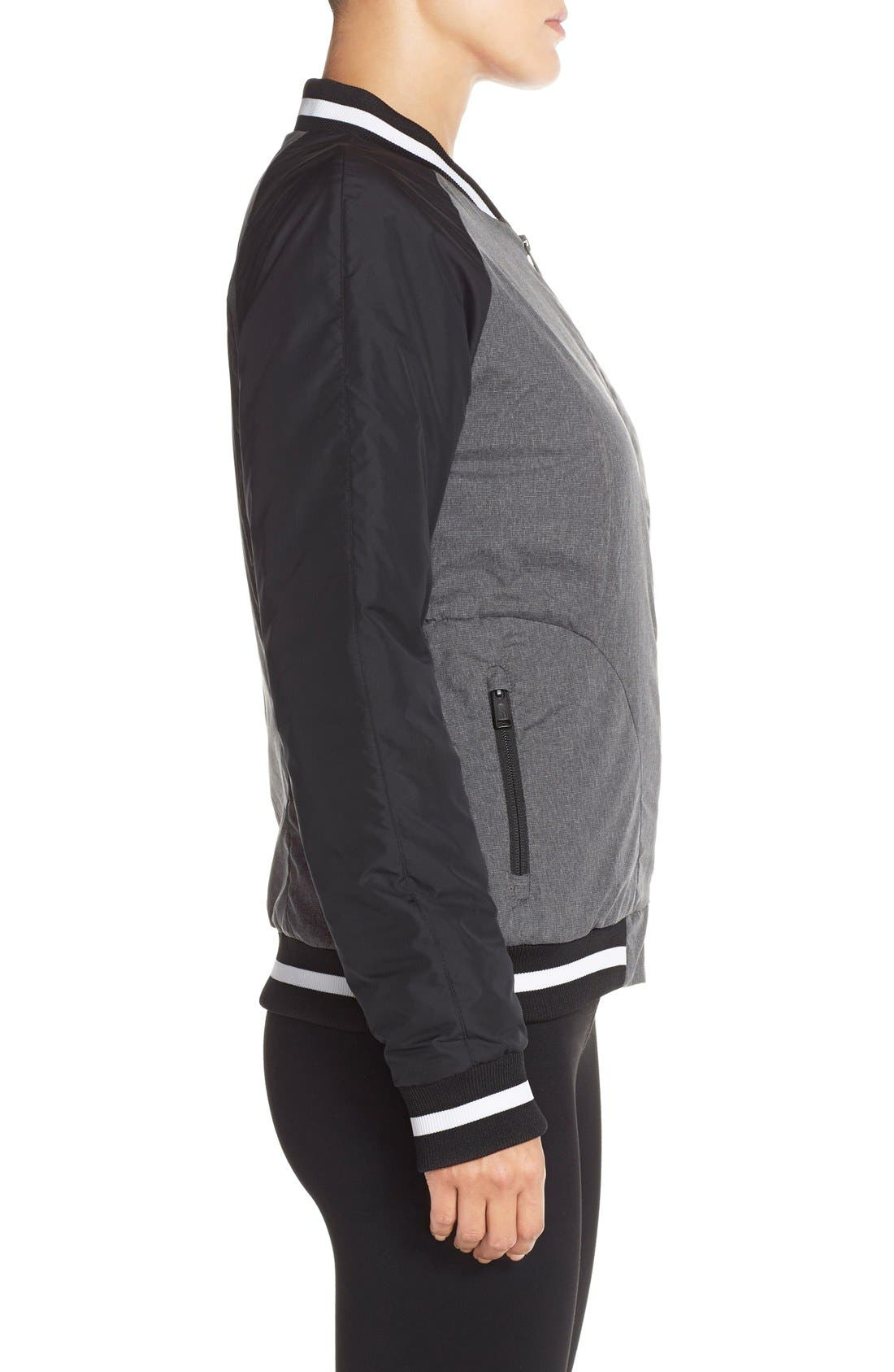 'Rydell' Water Resistant Heatseeker<sup>™</sup> Insulated Bomber Jacket,                             Alternate thumbnail 4, color,                             001