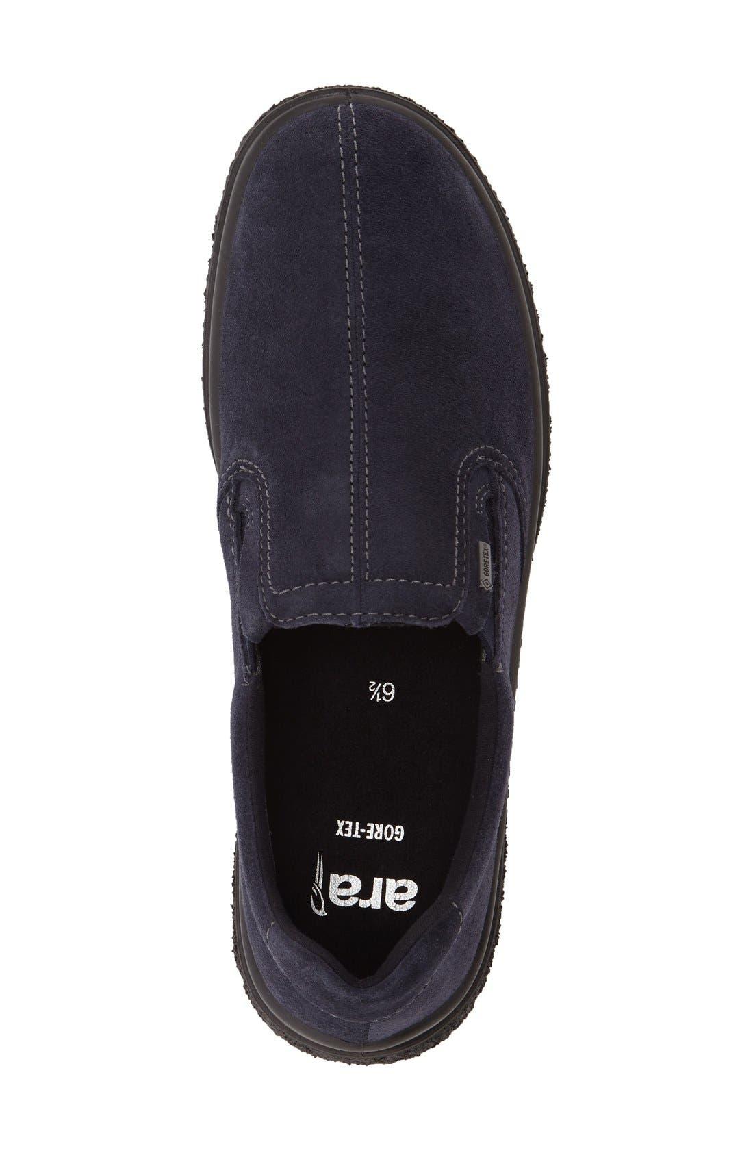 Parson Waterproof Gore-Tex<sup>®</sup> Slip-On Sneaker,                             Alternate thumbnail 3, color,                             NAVY SUEDE