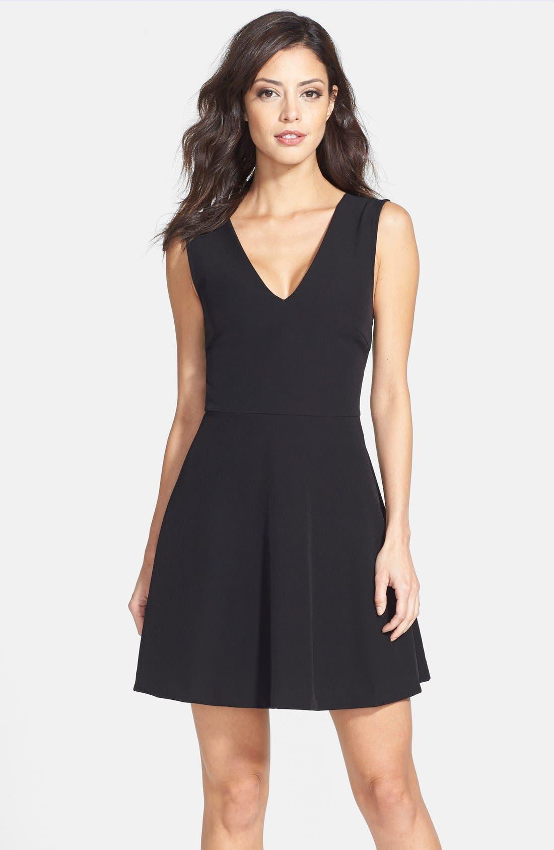 Bianca Back Cutout Fit & Flare Dress,                         Main,                         color,