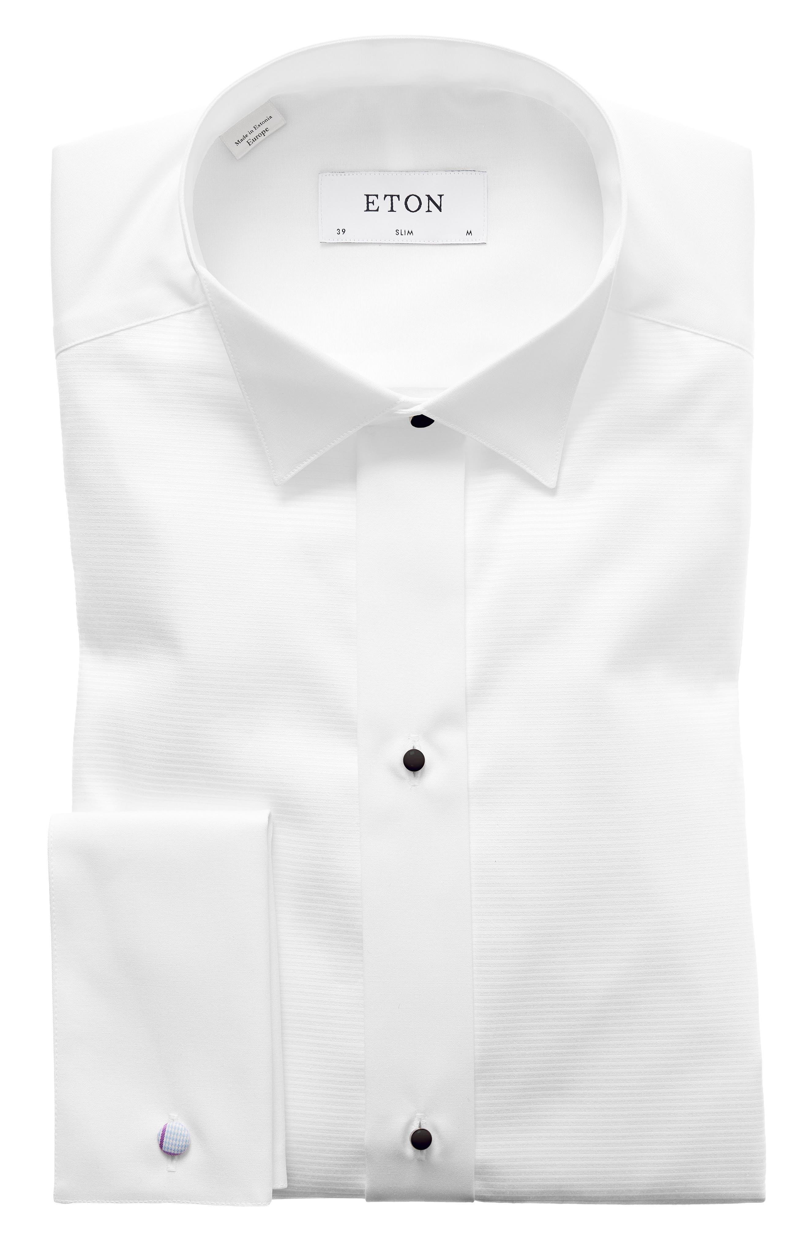 Slim Fit Wing Collar Dress Shirt,                             Main thumbnail 1, color,                             WHITE