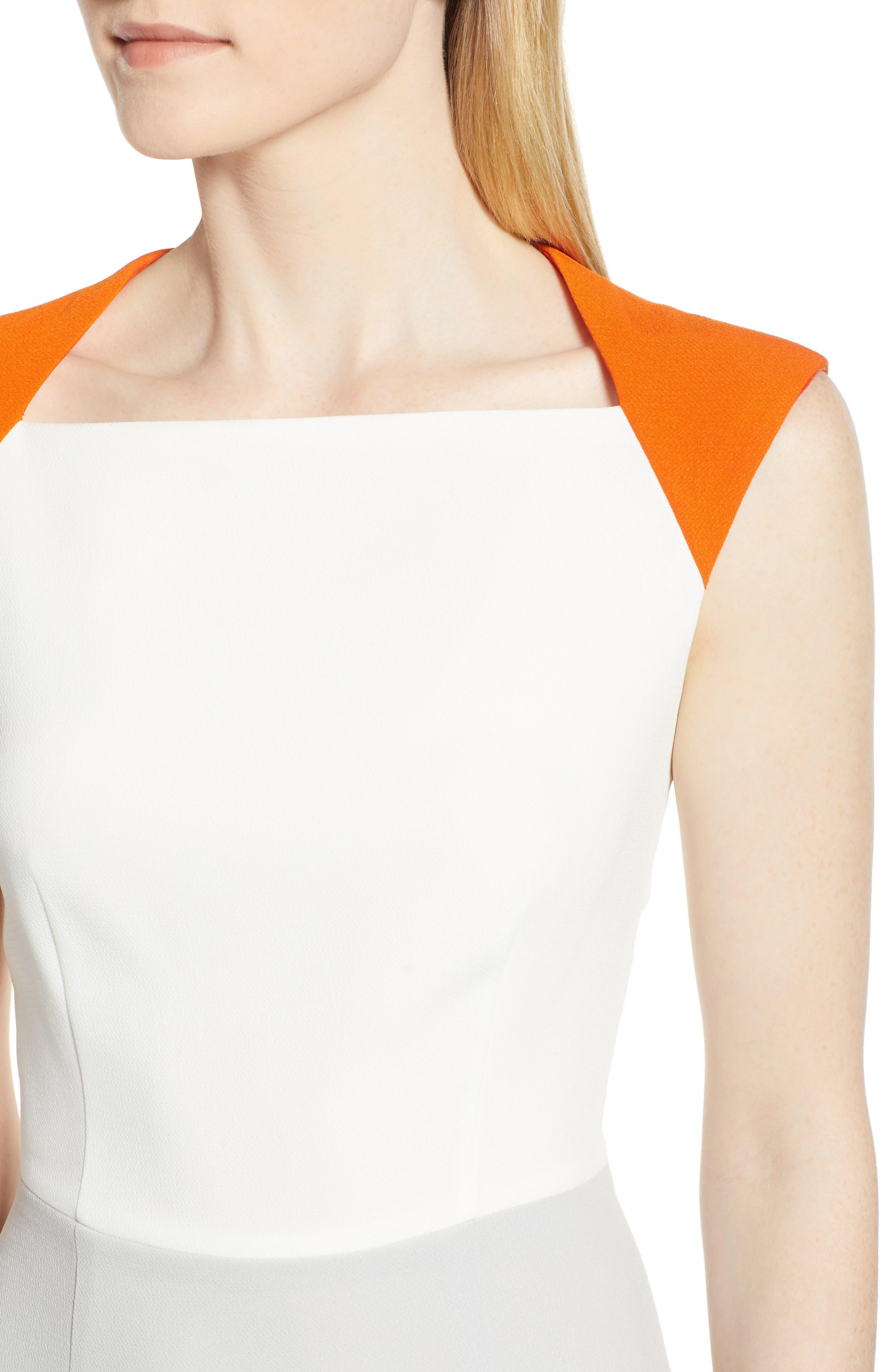 Dekala Colorblock Sheath Dress,                             Alternate thumbnail 4, color,                             021