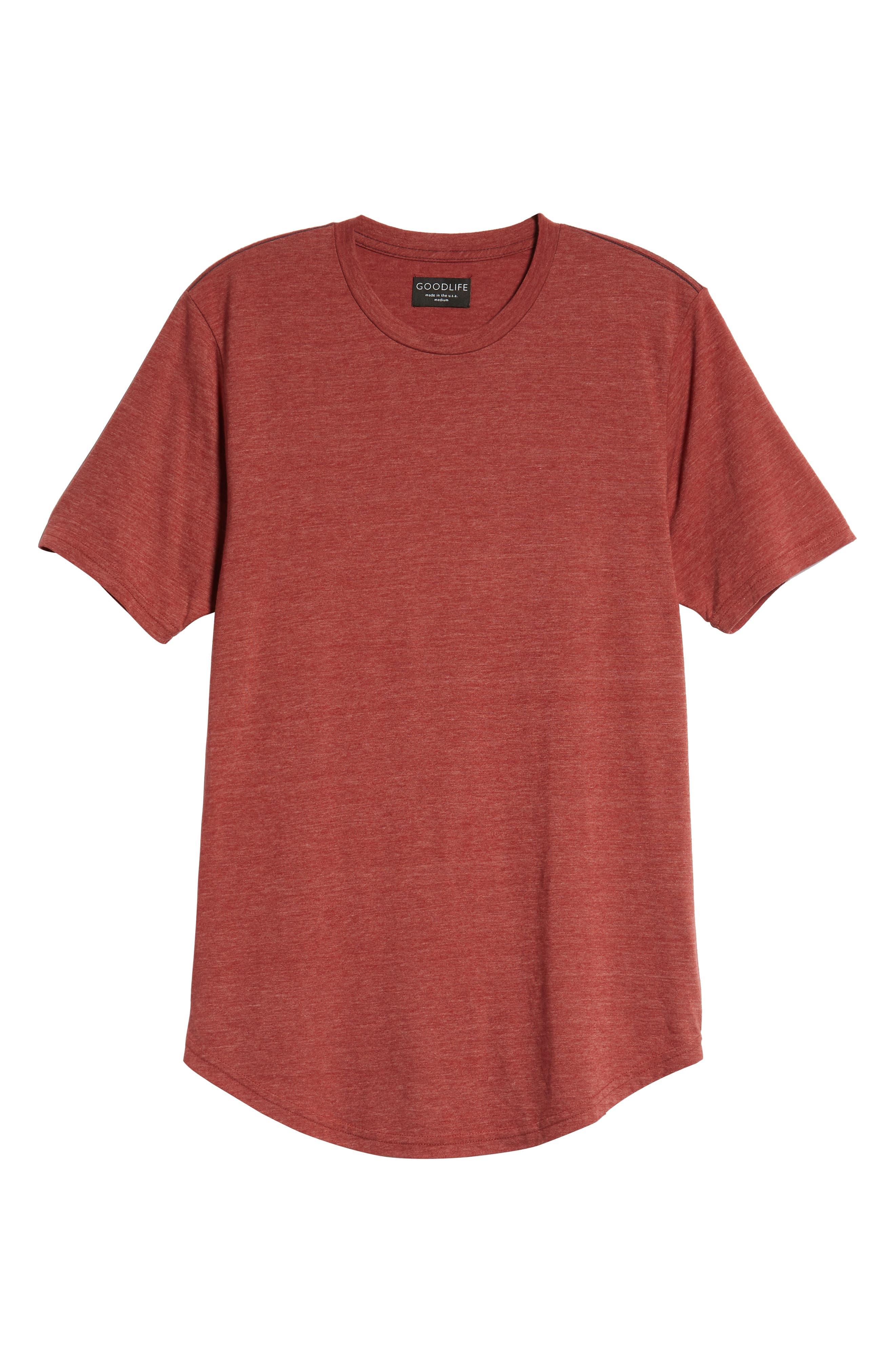 Scallop Triblend Crewneck T-Shirt,                             Alternate thumbnail 128, color,