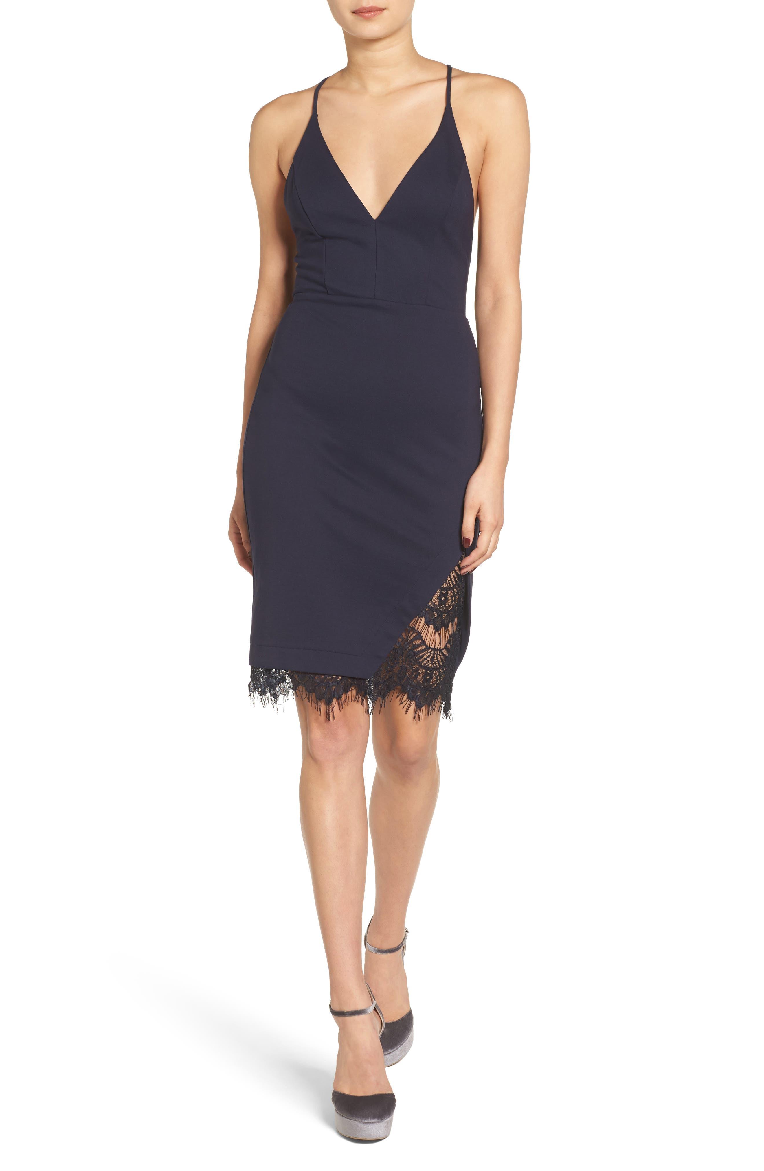 Lace Body-Con Dress,                             Alternate thumbnail 8, color,