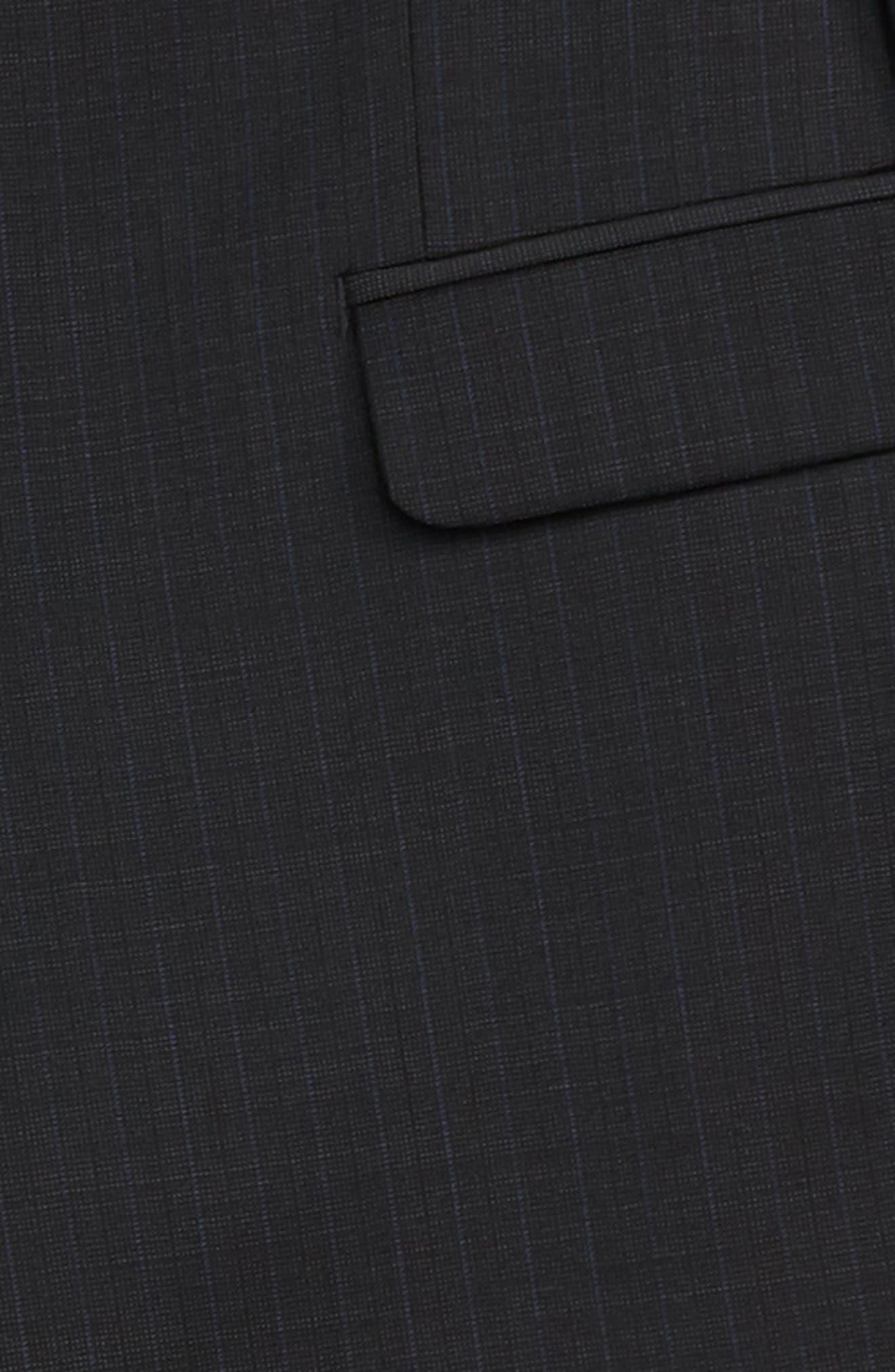 Check Wool Suit,                             Alternate thumbnail 2, color,                             BLACK / BLUE