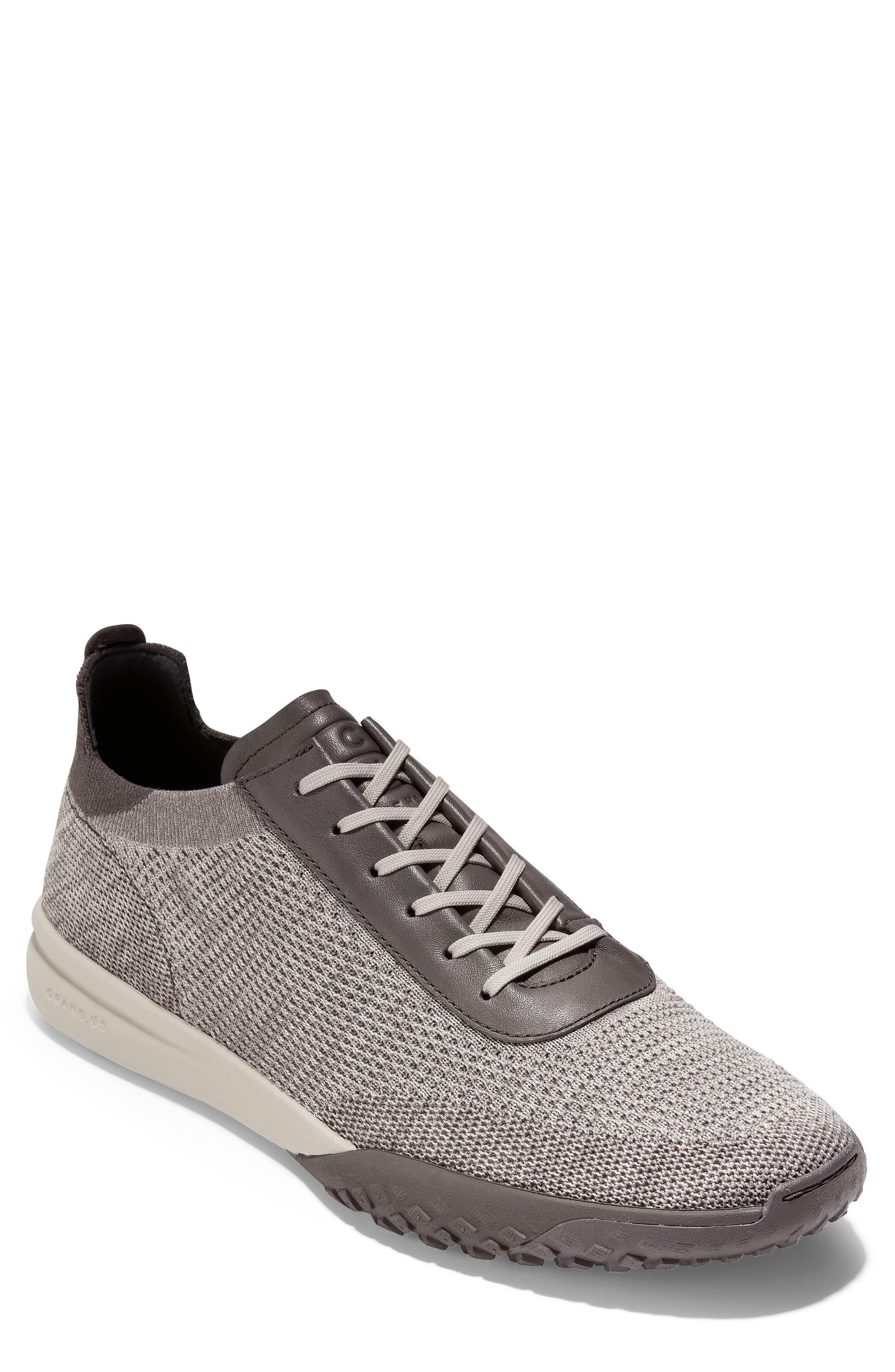 GrandPro Trail Low Stitchlite Sneaker,                             Main thumbnail 1, color,                             BLACK/ VAPOR GREY KNIT