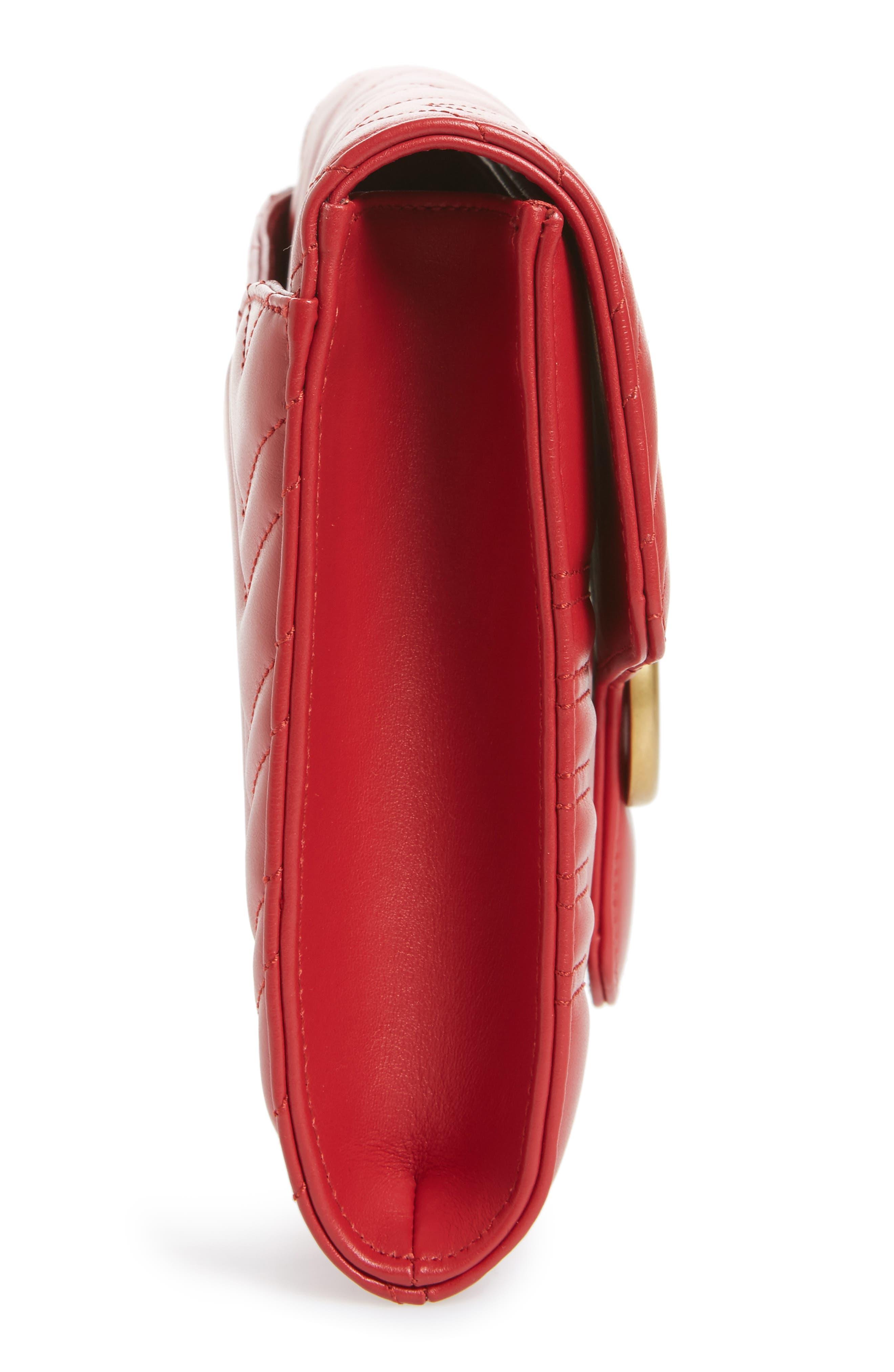 GG Marmont 2.0 Matelassé Leather Clutch,                             Alternate thumbnail 17, color,