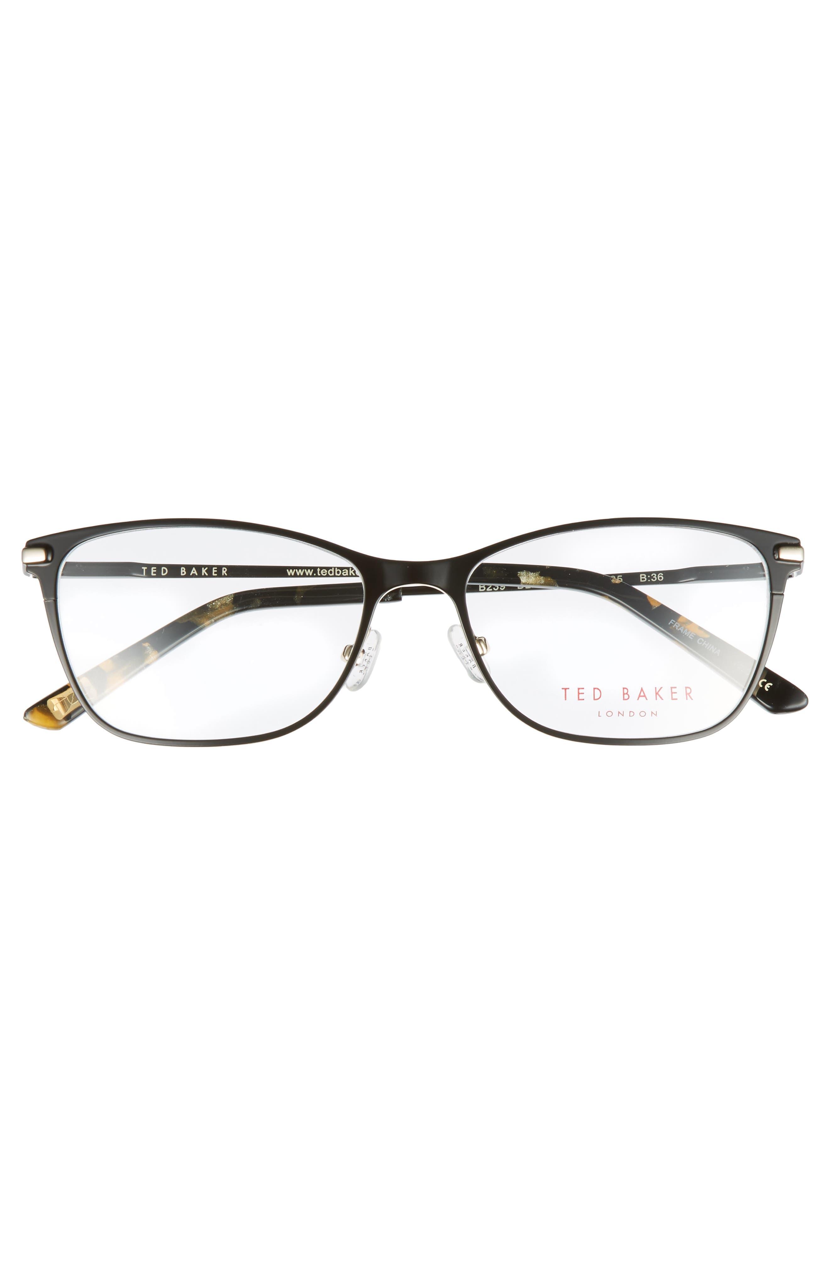 51mm Metal Cat Eye Optical Glasses,                             Alternate thumbnail 3, color,                             001