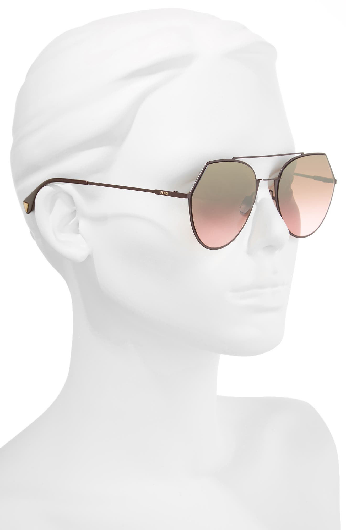 Eyeline 55mm Sunglasses,                             Alternate thumbnail 2, color,                             PLUM
