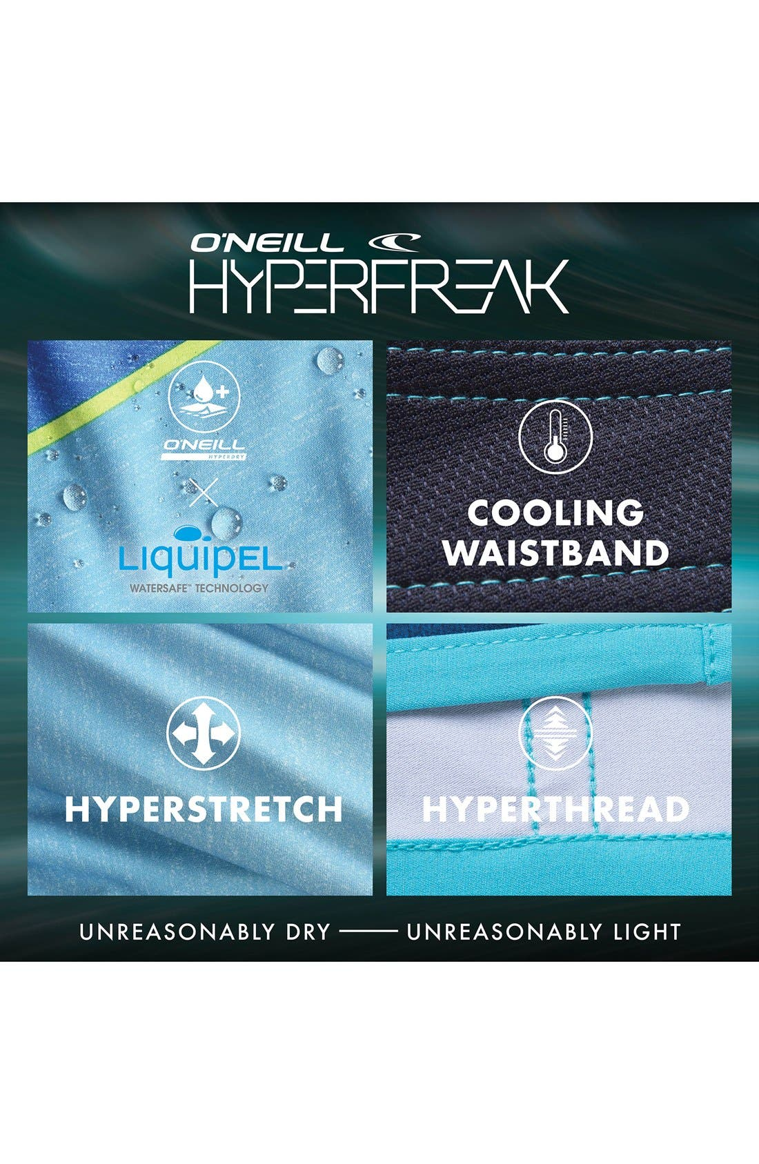 'Hyperfreak Hydro' High Performance Board Shorts,                             Alternate thumbnail 3, color,                             001