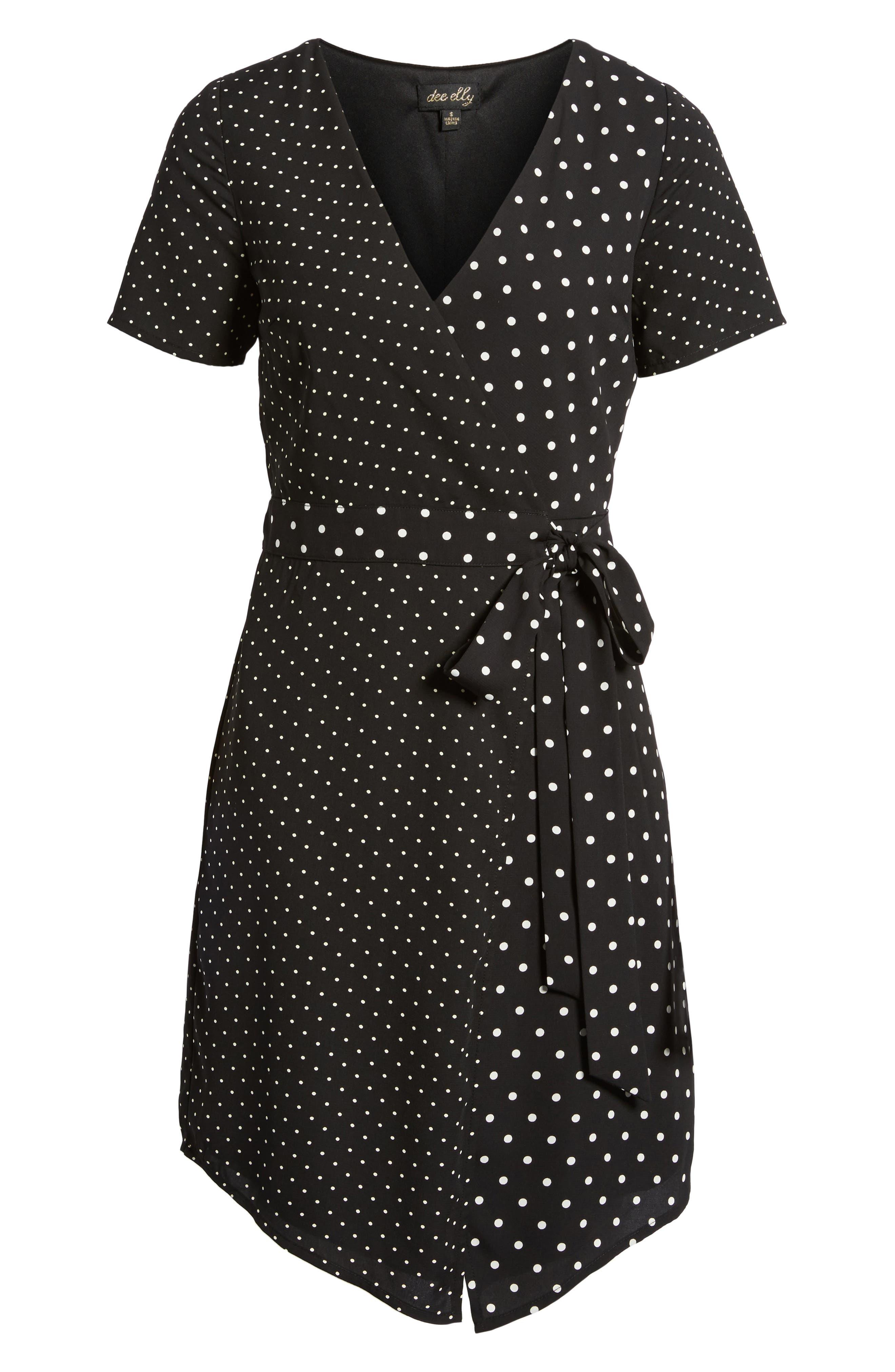 Mix Print Wrap Dress,                             Alternate thumbnail 6, color,