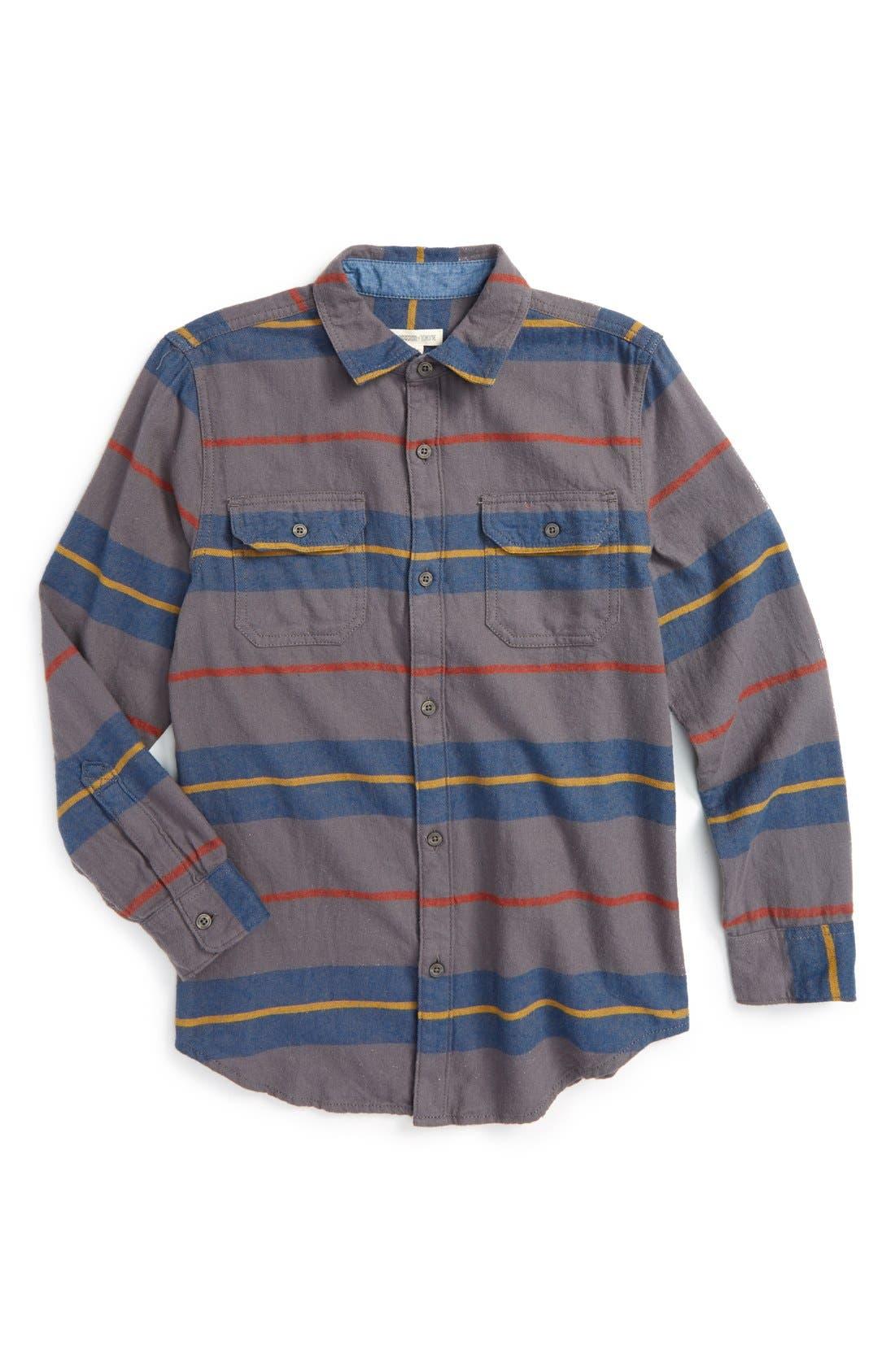 Long Sleeve Plaid Flannel Shirt,                         Main,                         color, 021