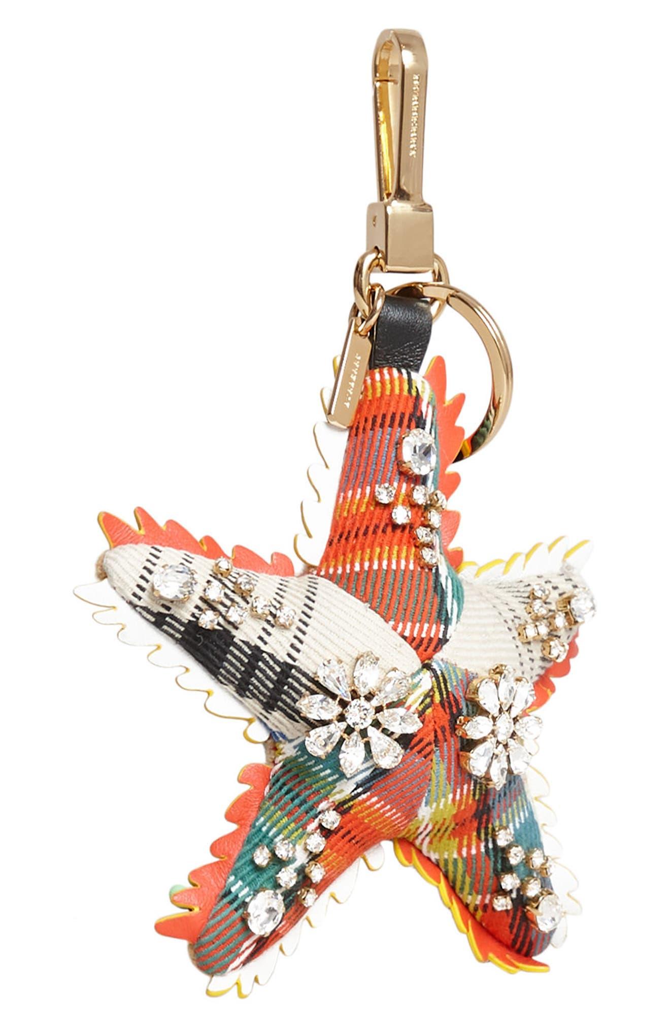 Phil the Starfish Cashmere Bag Charm,                             Alternate thumbnail 4, color,                             801