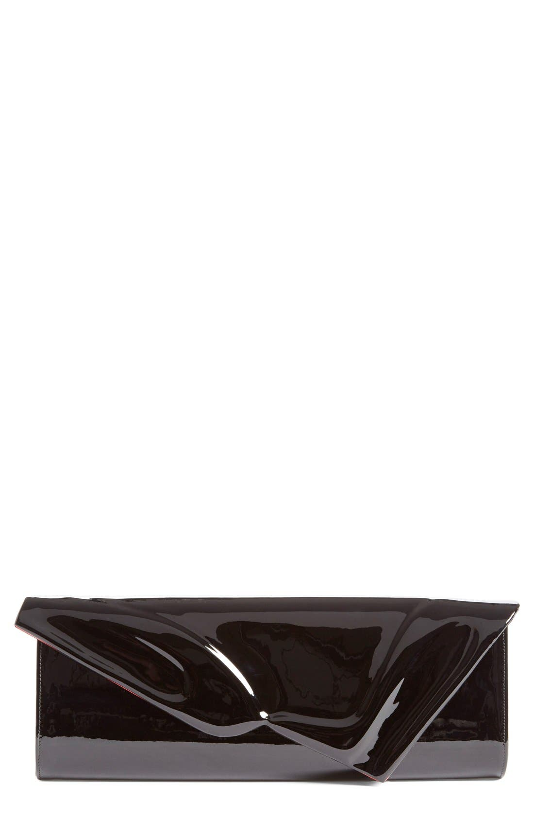 So Kate Patent Leather Clutch,                             Main thumbnail 1, color,                             BLACK