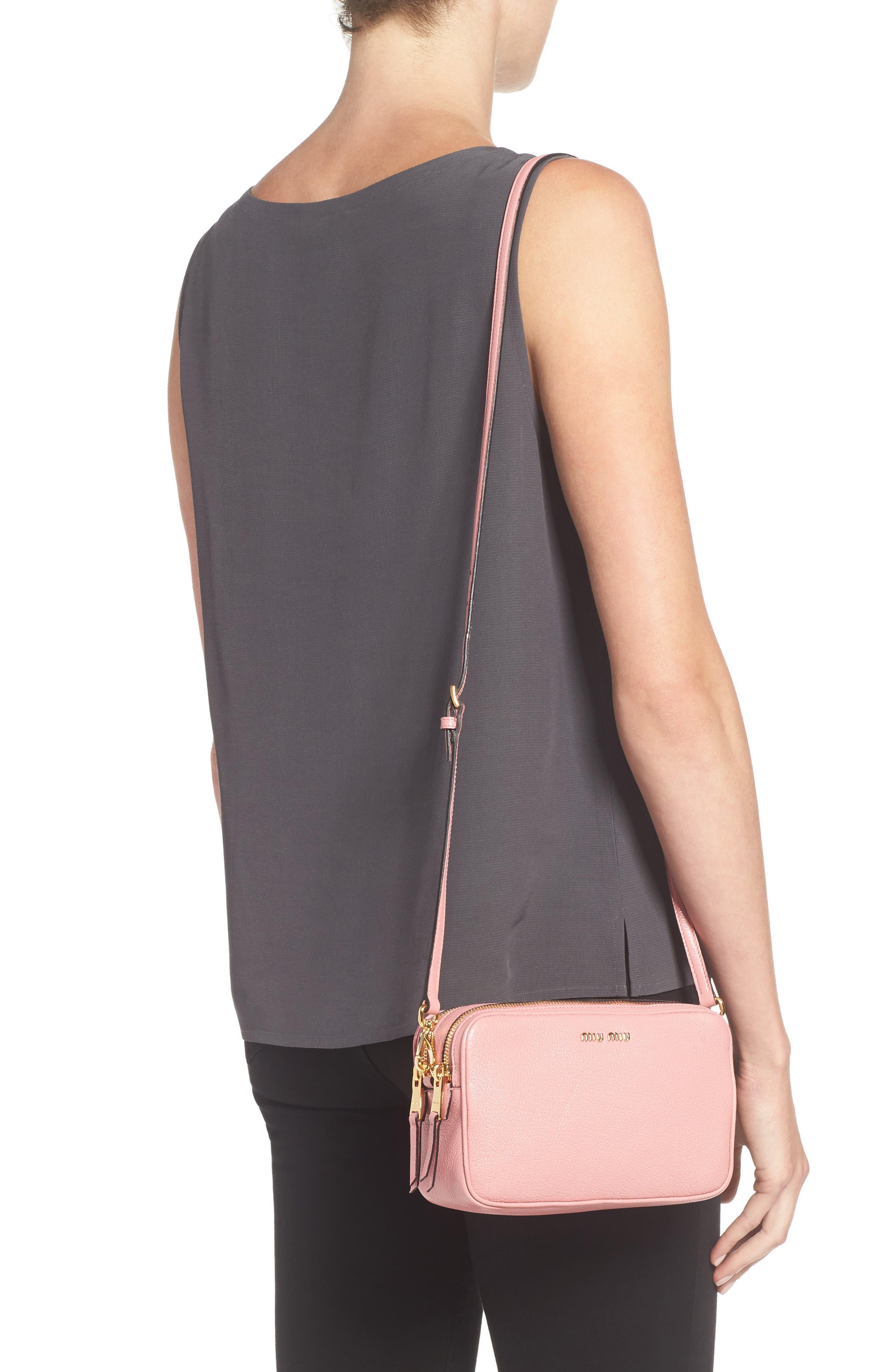 Madras Goatskin Leather Crossbody Bag,                             Alternate thumbnail 2, color,