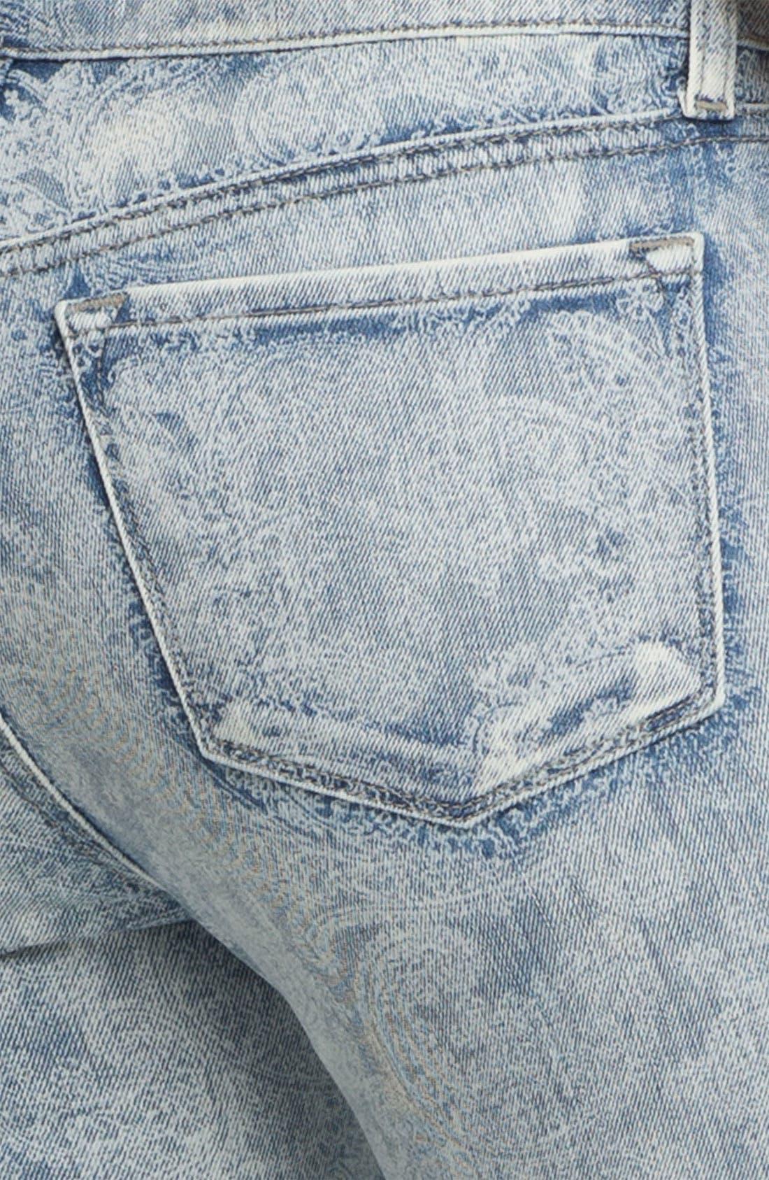 Print Skinny Leg Jeans,                             Alternate thumbnail 3, color,                             453